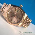Rolex 118205 vàng hồng nguyên khối