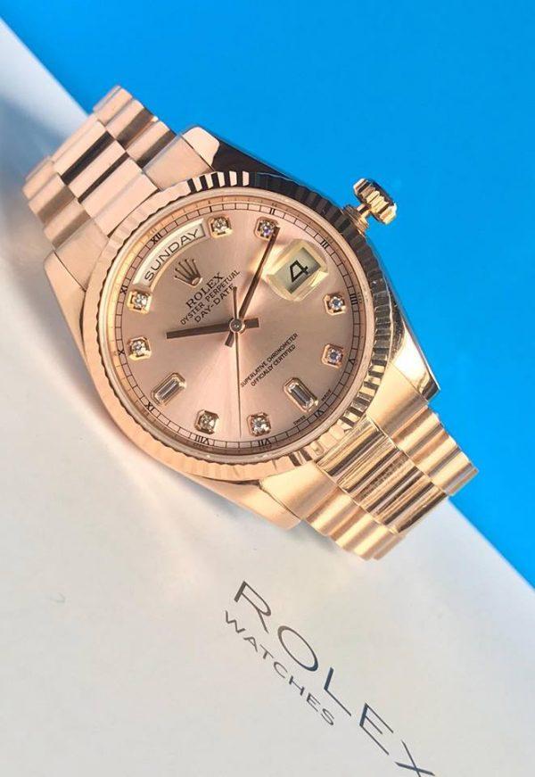 Rolex 118205 vàng hồng nguyên khối1