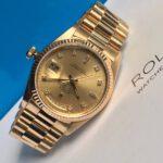 Rolex 18238 vàng khối 18k2