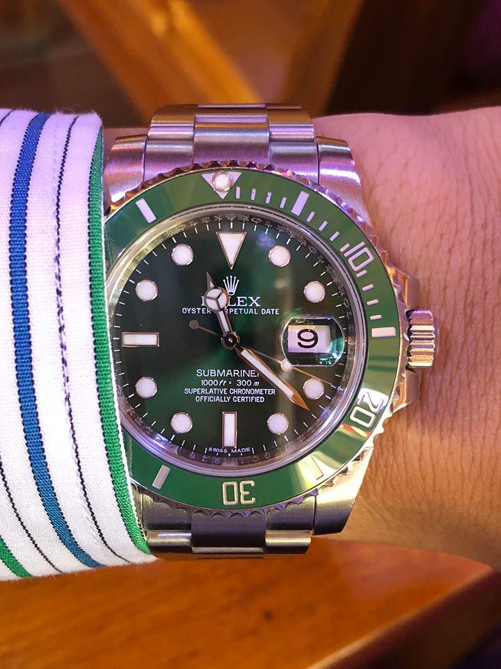Rolex 116610 Hulk người khổng lồ xanh sành điệu giá tốt
