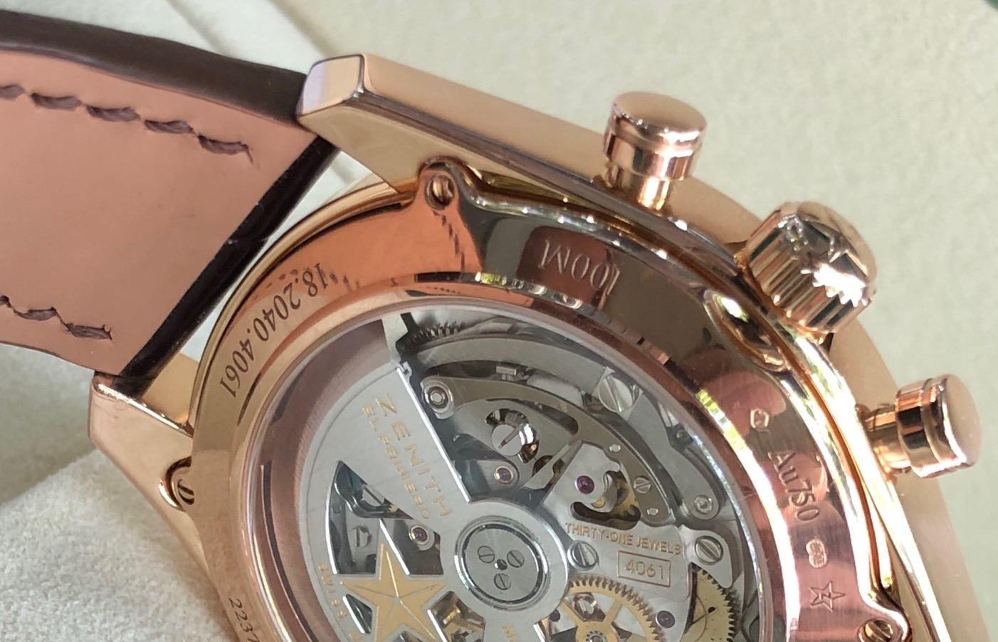 Zenith El Primero vàng hồng 18k sản xuất năm 2017