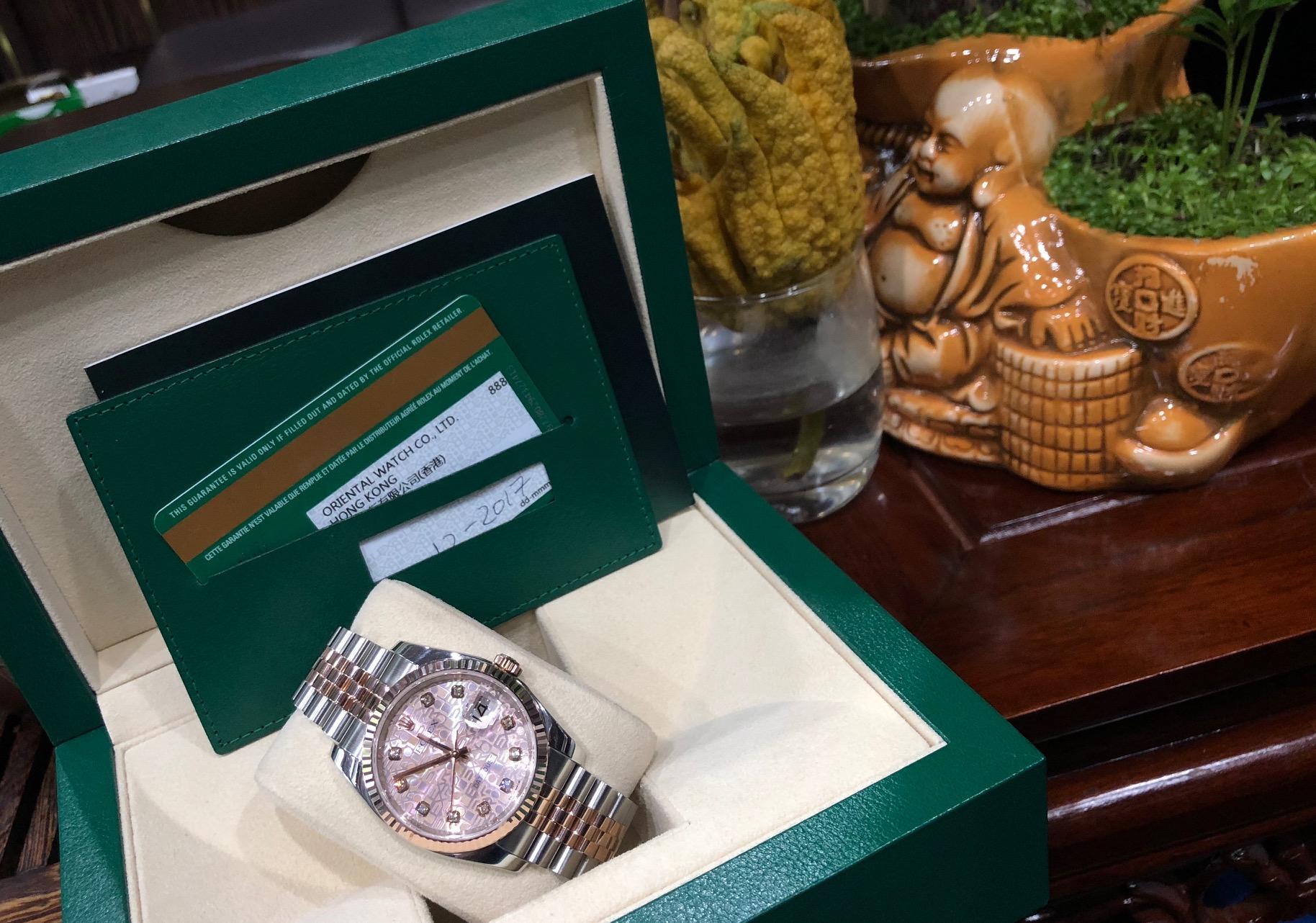 Rolex 116131 demi vàng hồng sản xuất năm 2017 fullbox