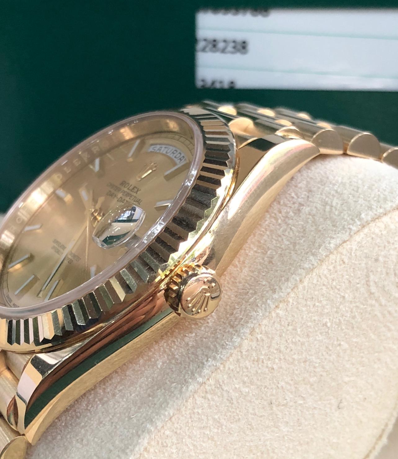 Rolex 228238 day-date vàng hồng sản xuất 07.2018