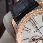Zenith Captain vàng hồng niềng kim cương sản xuất năm 2016-4