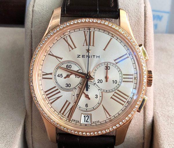 Zenith Captain vàng hồng niềng kim cương sản xuất năm 2016