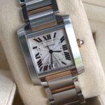 Cartier Tank Française Steel 18k Automatic Watch 2302_1