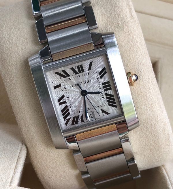 Cartier Tank Française Steel 18k Automatic Watch 2302_1