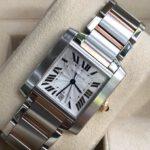 Cartier Tank Française Steel 18k Automatic Watch 2302_2