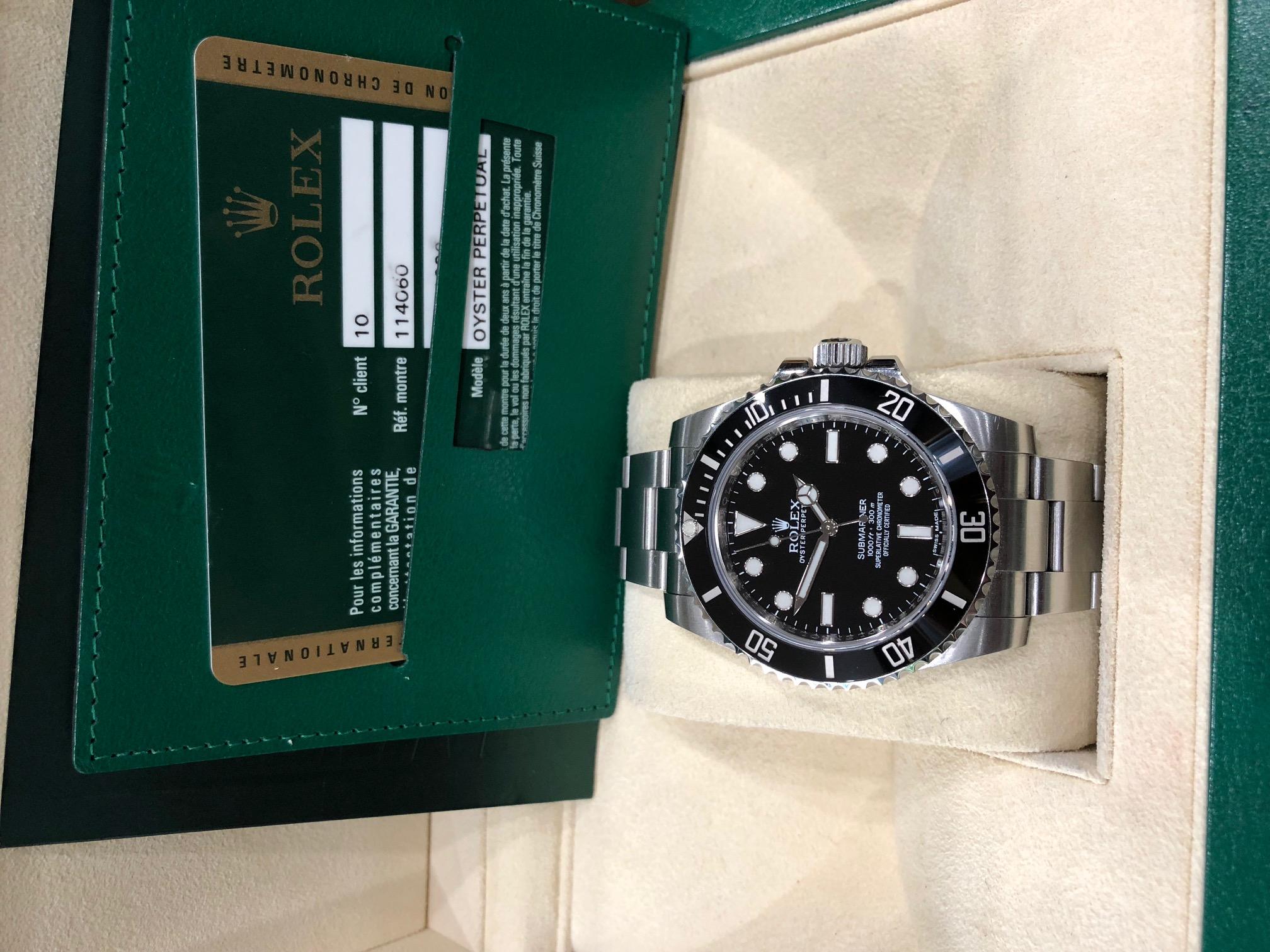 Rolex 114060 thép No date sản xuất năm 2012 fullbox