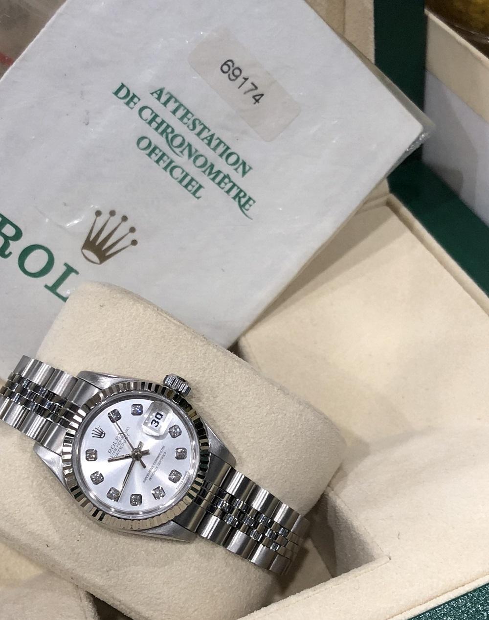 Rolex 69174 chất liệu vàng trắng và thép sản xuất năm 1998