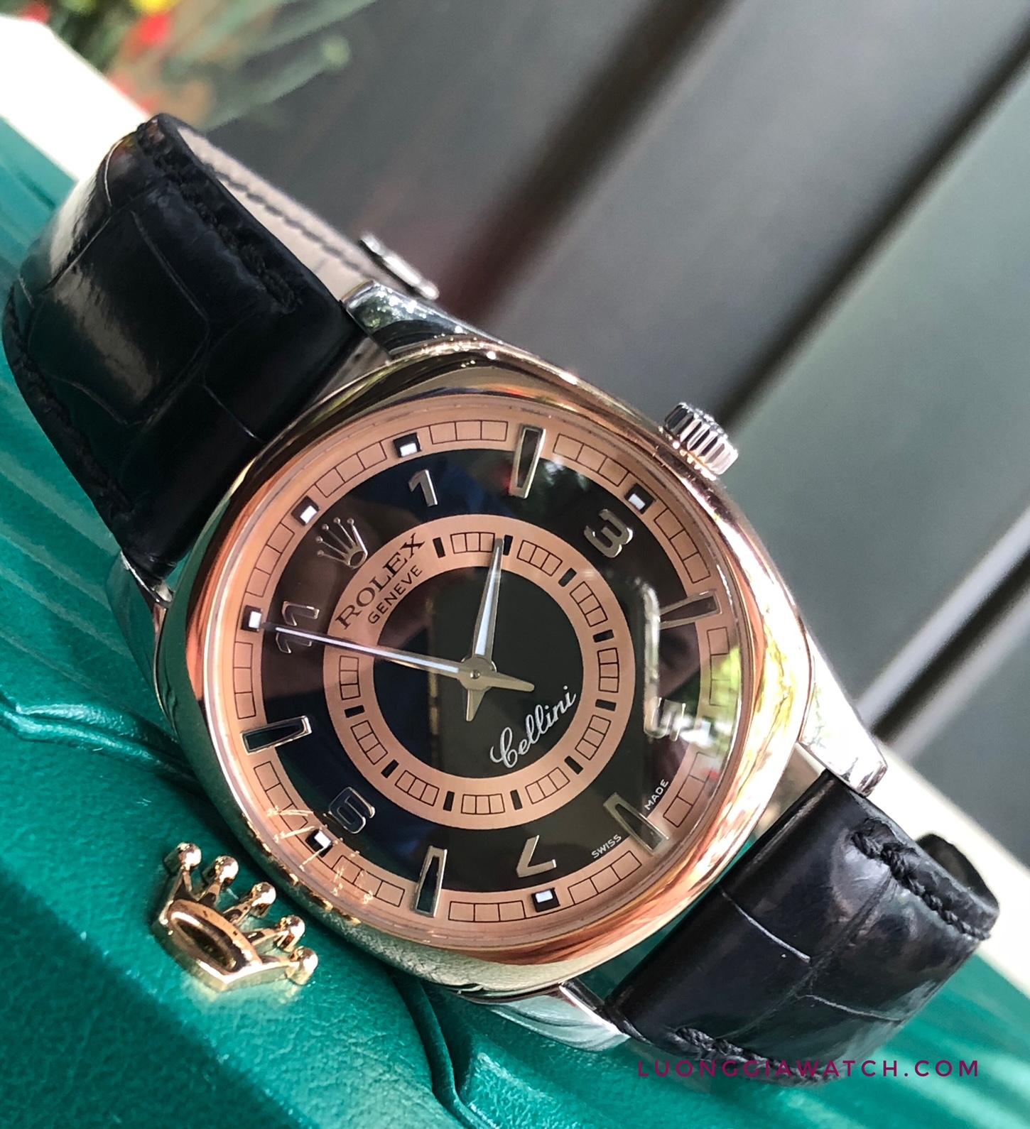 Rolex cellini mens danaos 4243.9bic Rose and white gold 18k_6