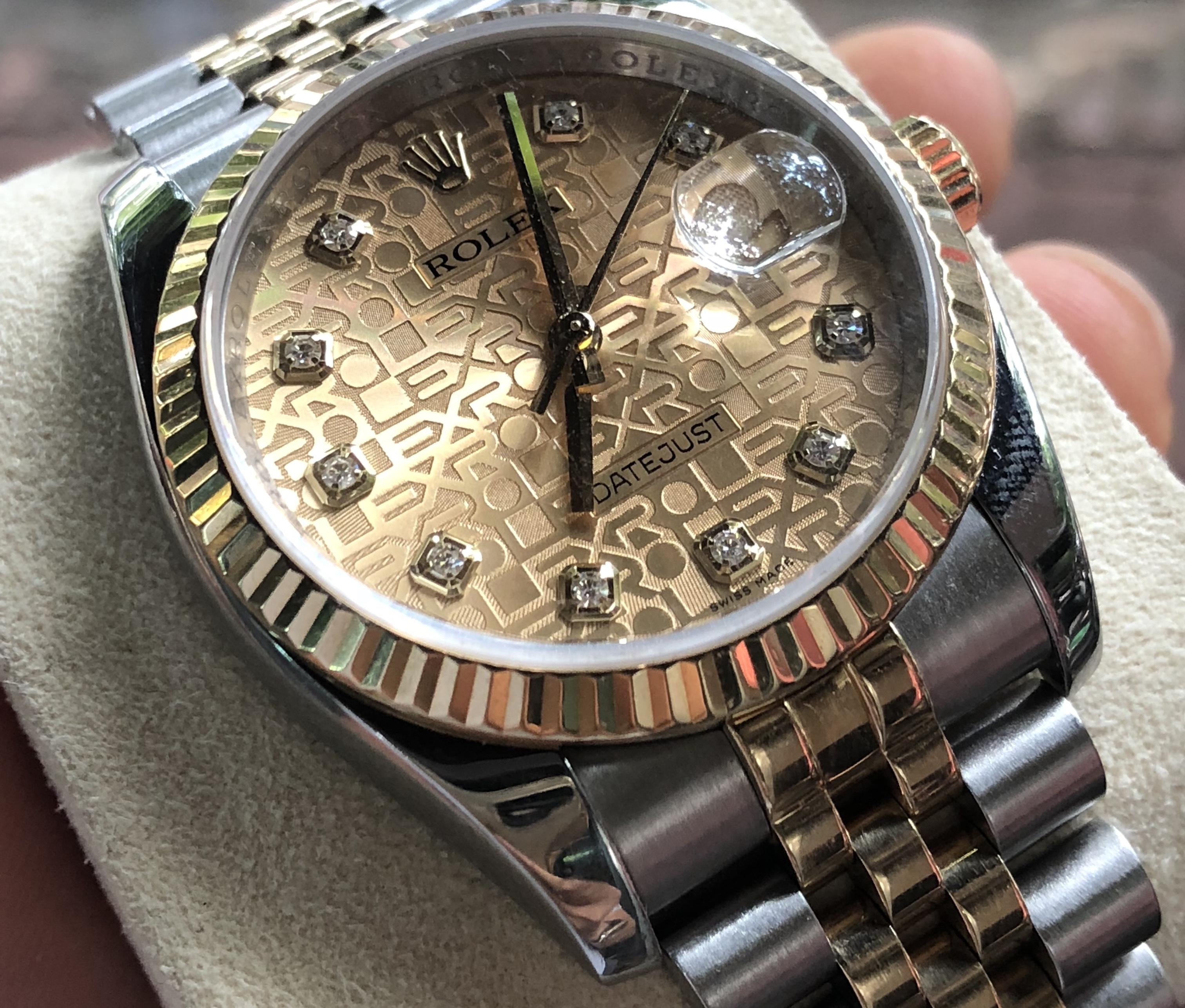 Rolex 116233 demi vàng 18k sản xuất năm 2011