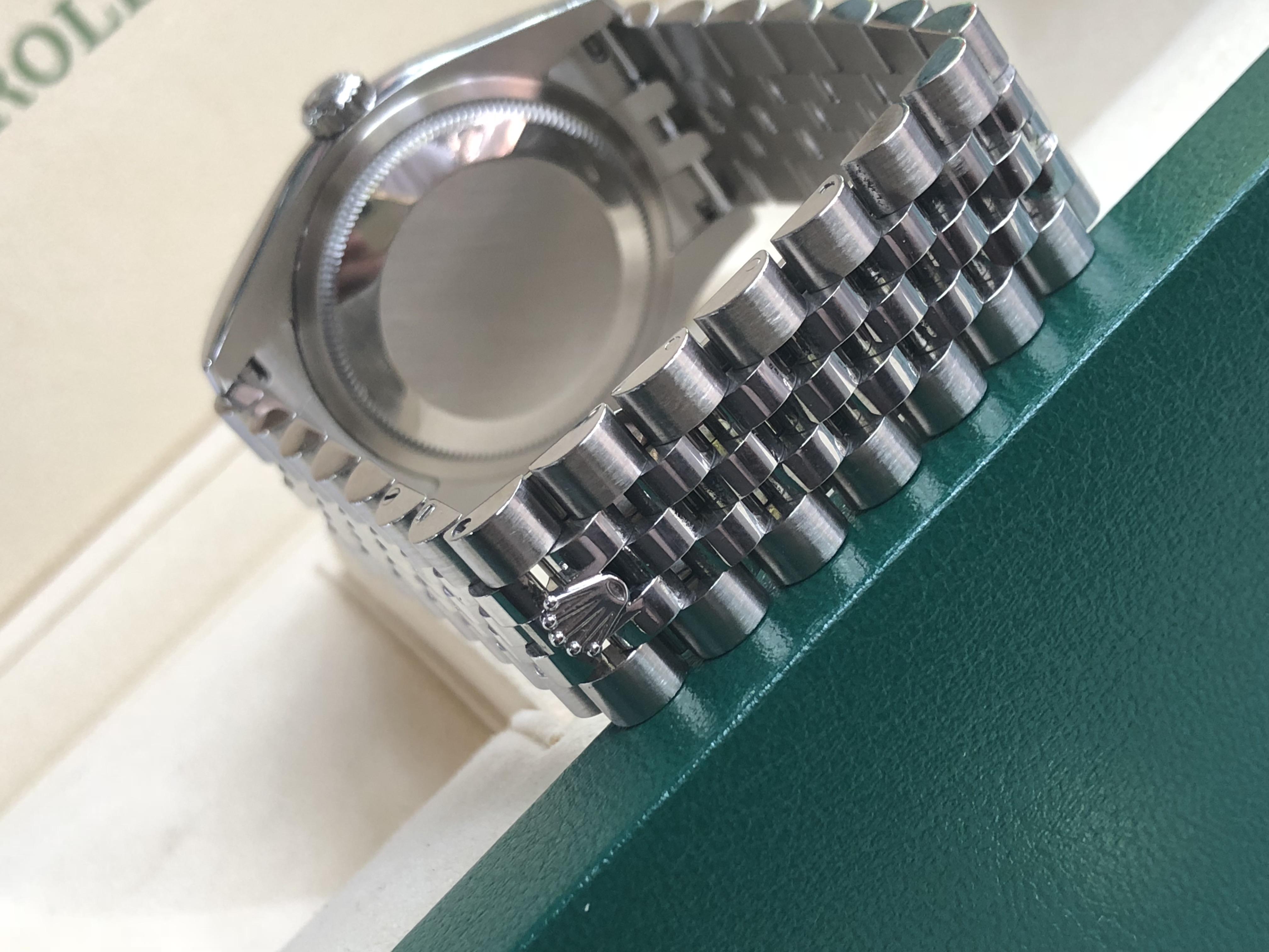 Rolex 116200 vỏ thép mặt tia xanh sản xuất 2016 - 2017-4