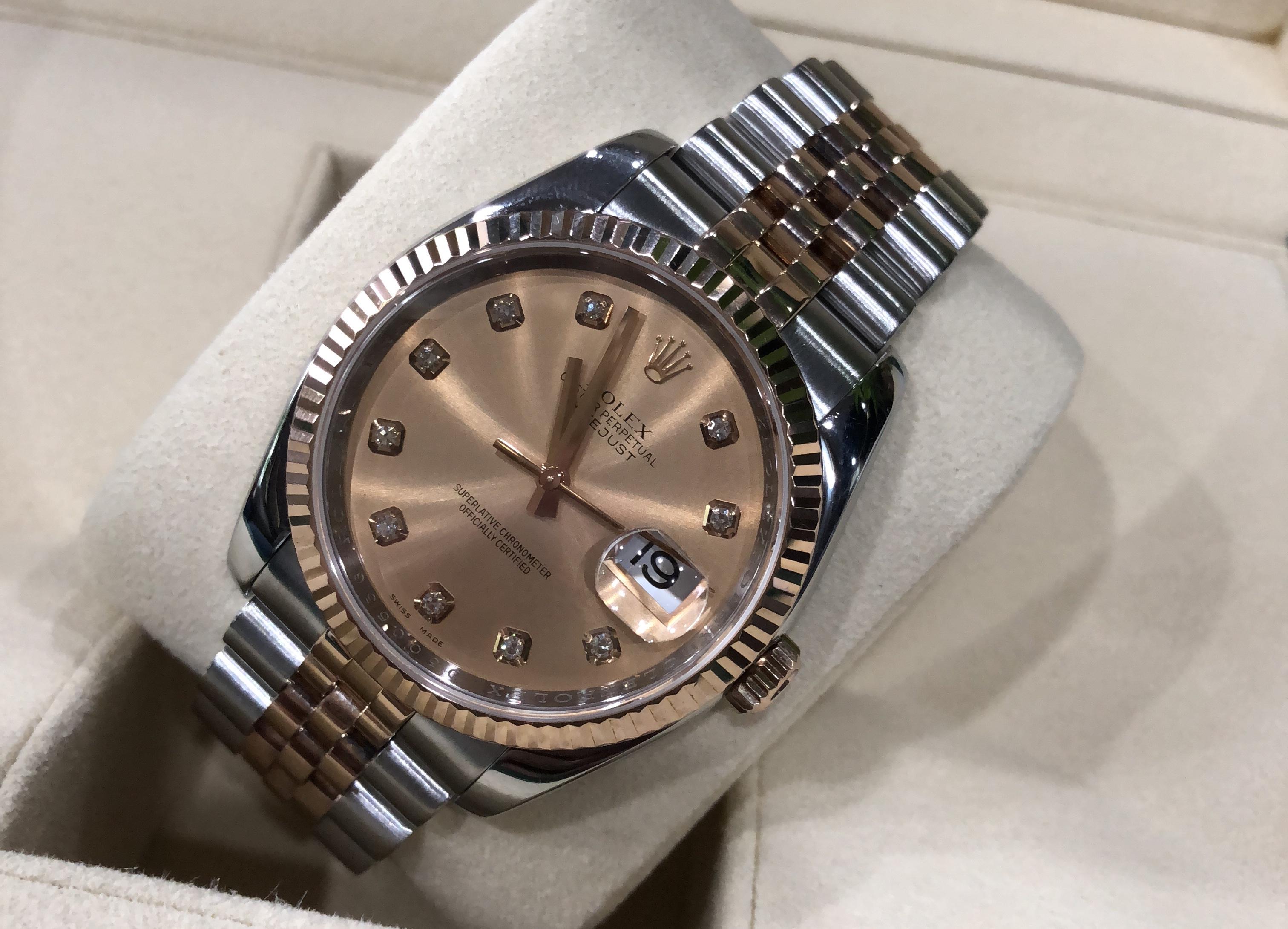 Rolex 116231 demi vàng hồng sản xuất năm 2007