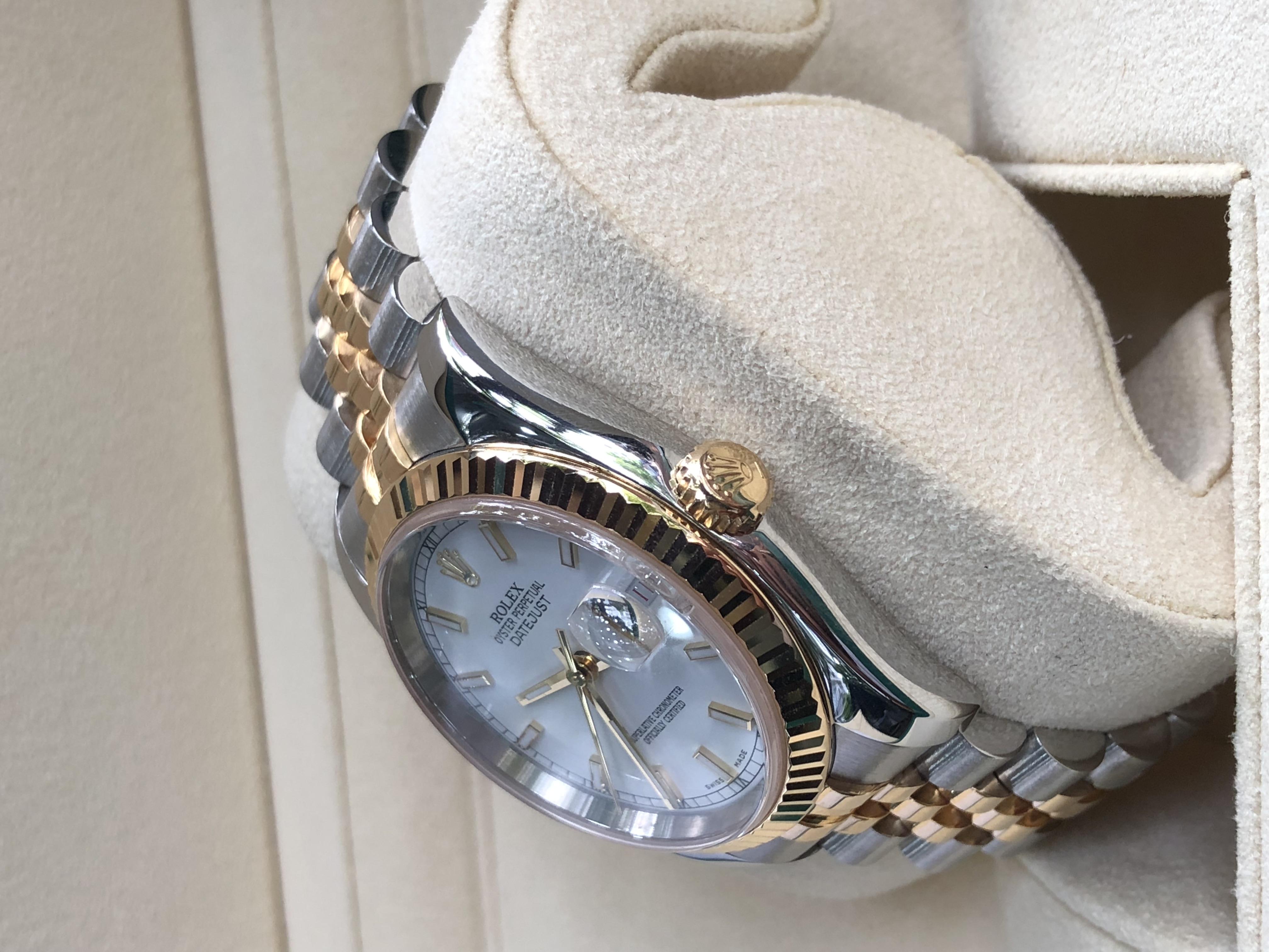Rolex 116233 mặt số tráng men trắng sản xuất năm 2004-2