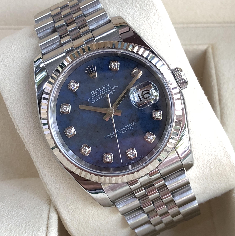 Rolex 116234 mặt đá xanh cực hiếm sản xuất năm 2005-1