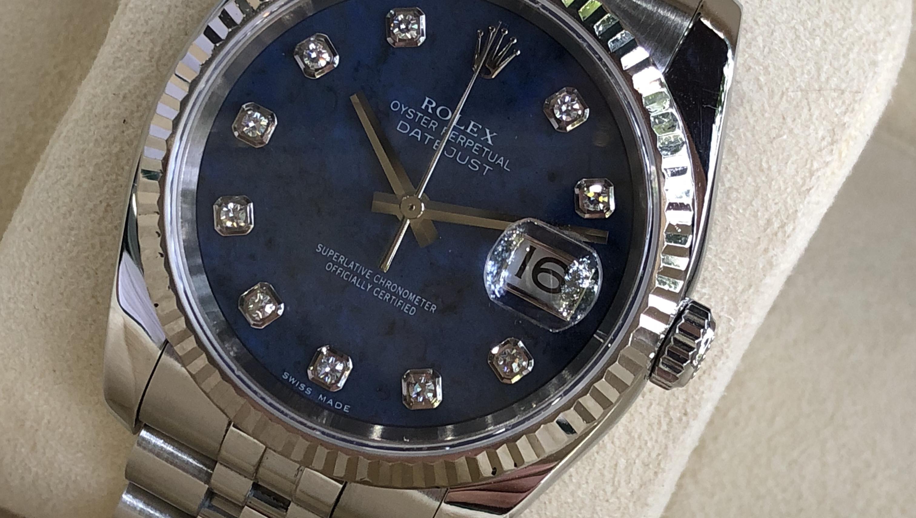 Rolex 116234 mặt đá xanh cực hiếm sản xuất năm 2005-3