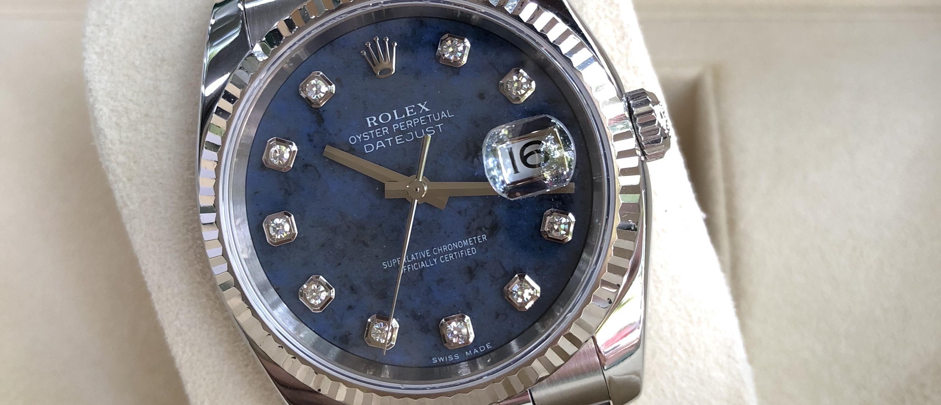 Rolex 116234 mặt đá xanh cực hiếm sản xuất năm 2005-5