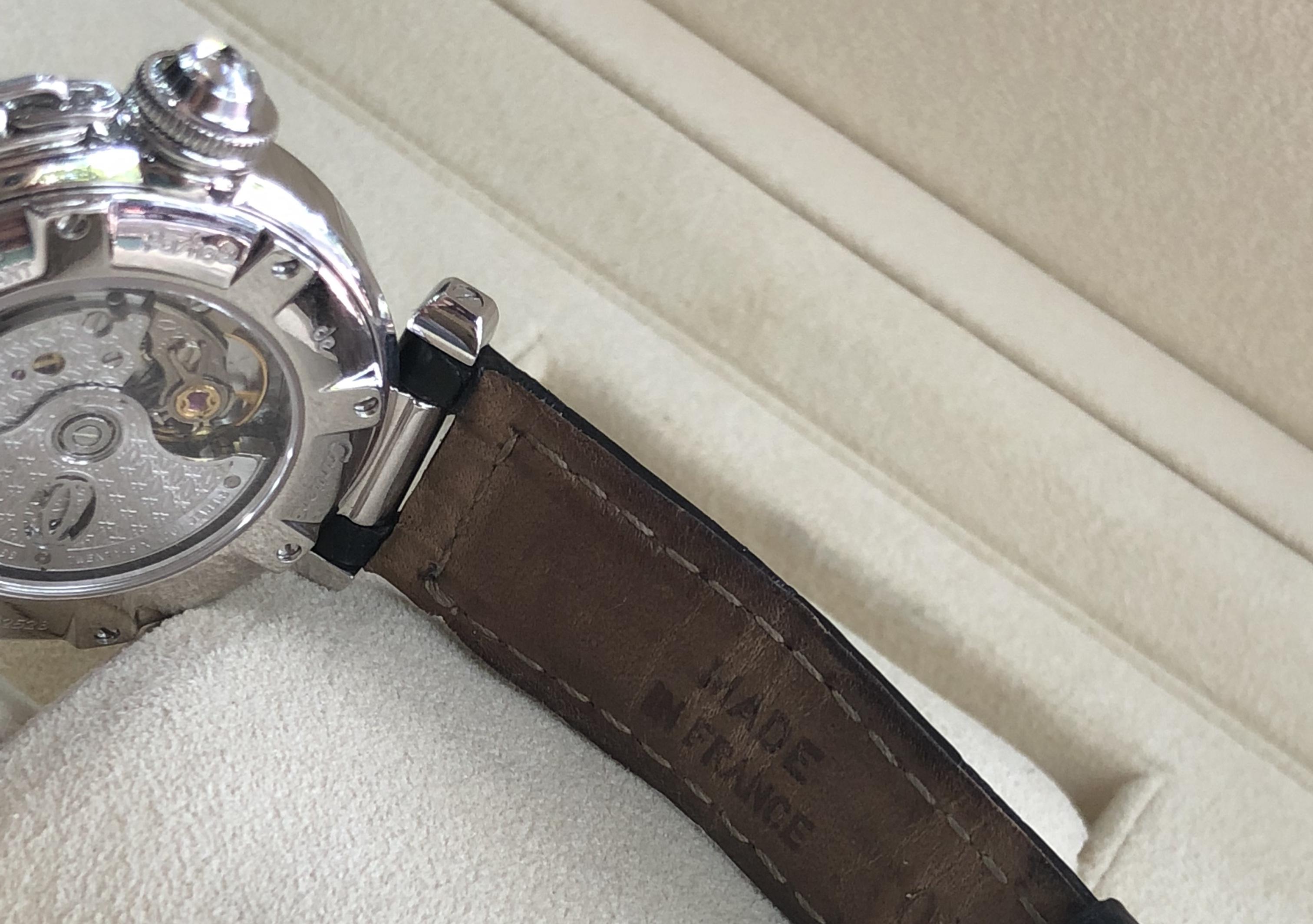 Cartier Pasha 2528 vàng trắng 18k máy Automatic