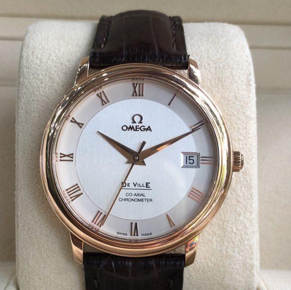Omega De Ville Co-Axial 2500 vàng hồng 18k sản xuất 2014/2015