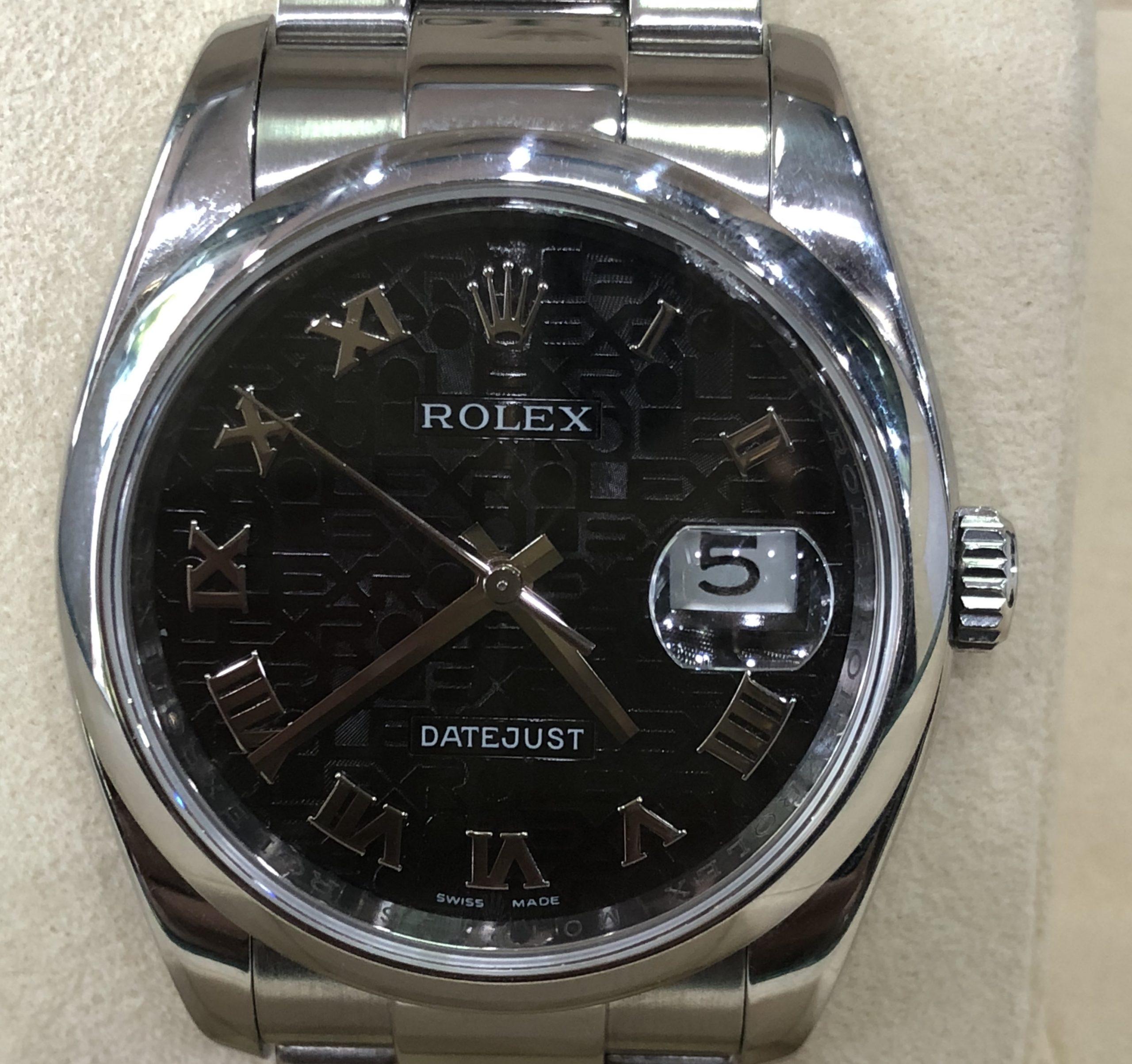 Rolex 116200 mặt đen vi tính size 36mm sản xuất năm 2010