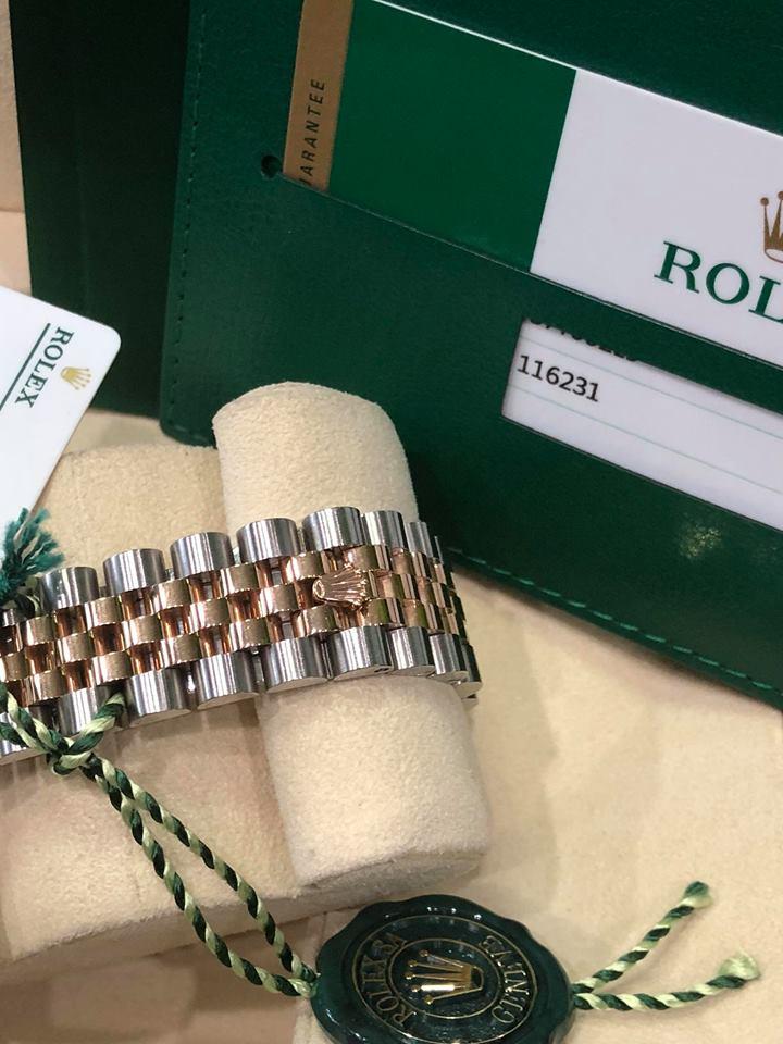 Rolex 116231 mặt vi tính phấn hồng đời 2017