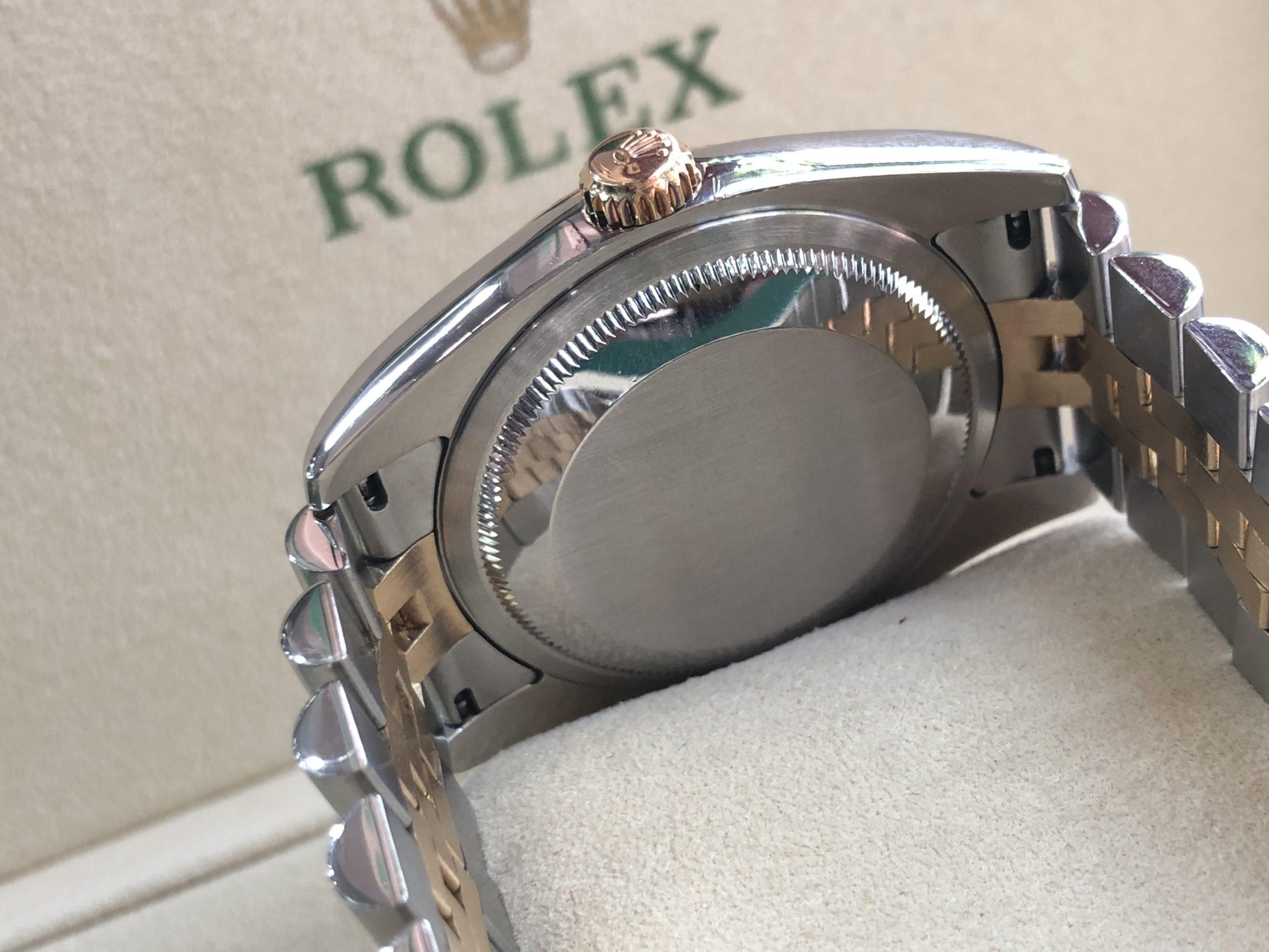 Rolex 116233 mặt vi tính nâu demi vàng 18k