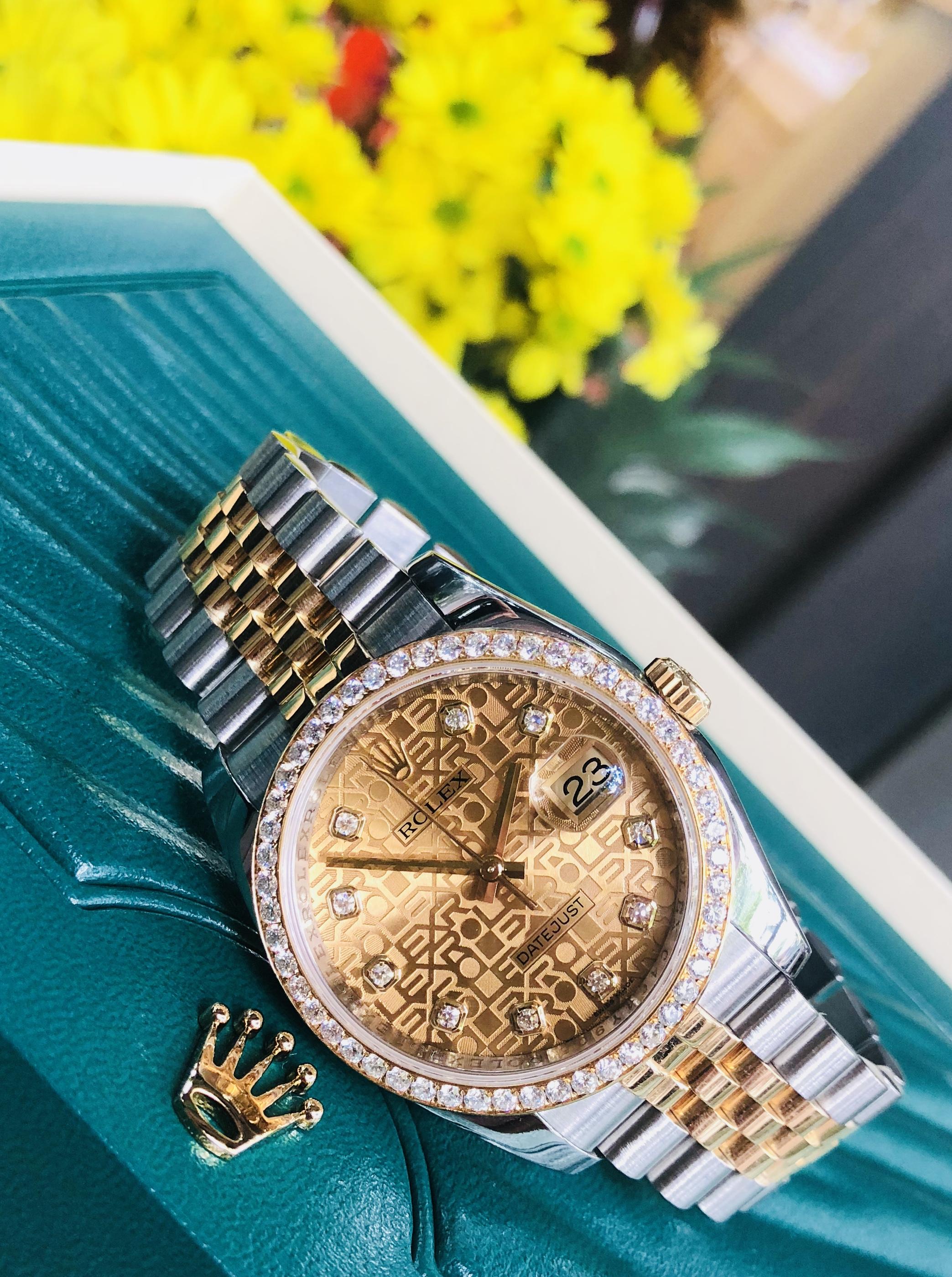 Rolex 116243 mặt vi tính niềng kim cương zin sản xuất 2016/2017