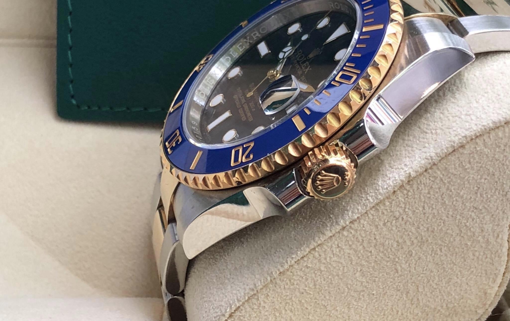 Rolex 116613 mặt xanh demi vàng 18k sản xuất năm 2016/2017