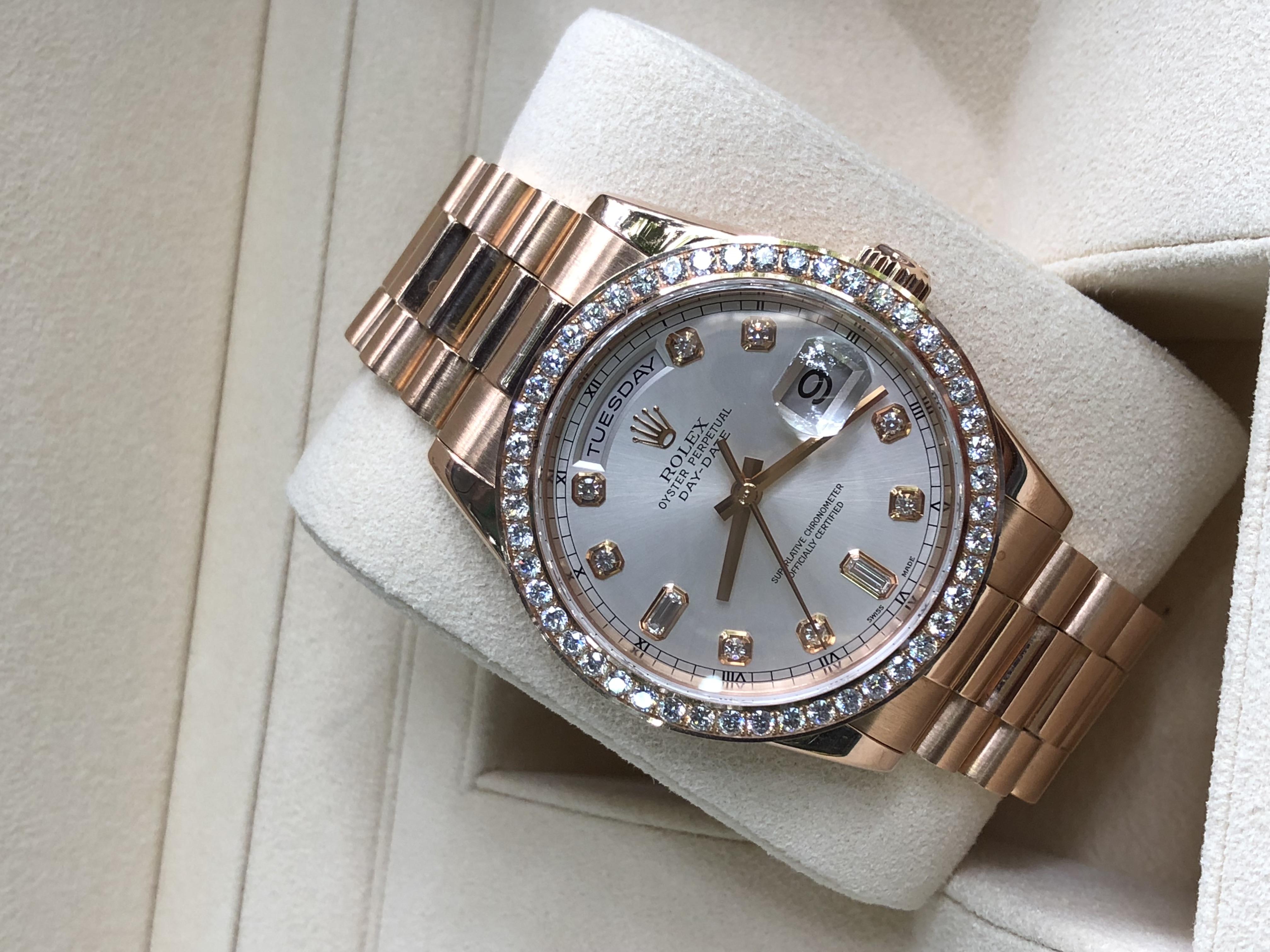 Rolex 118235 Day-Date vàng hồng 18K sản xuất 2016 Fullbox