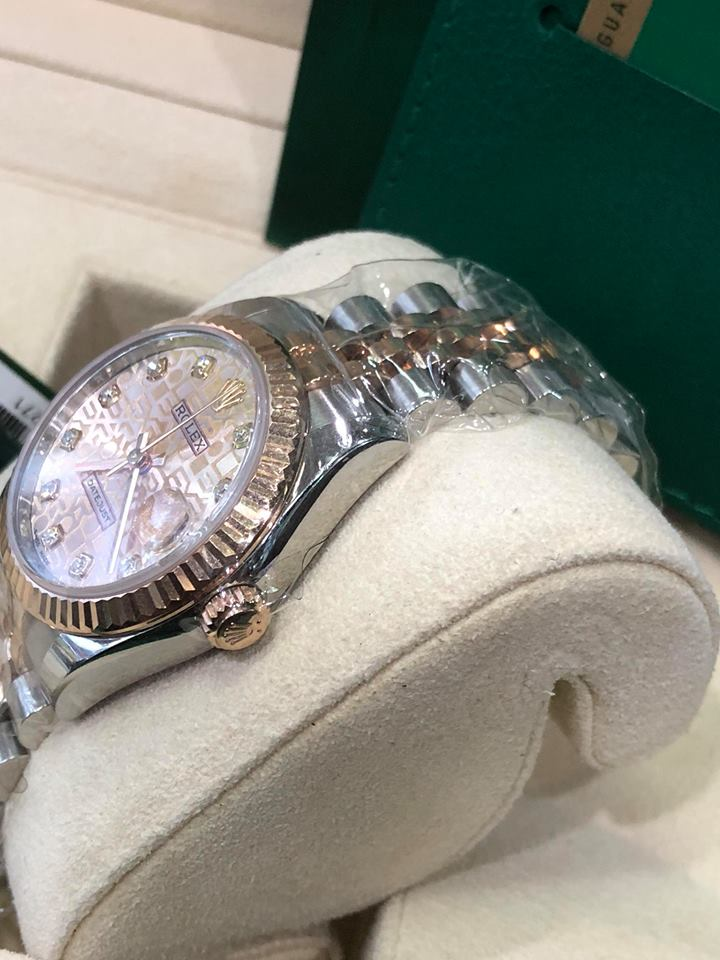 Rolex 178271 mặt vi tính phấn hồng nữ size 31 đời 2018