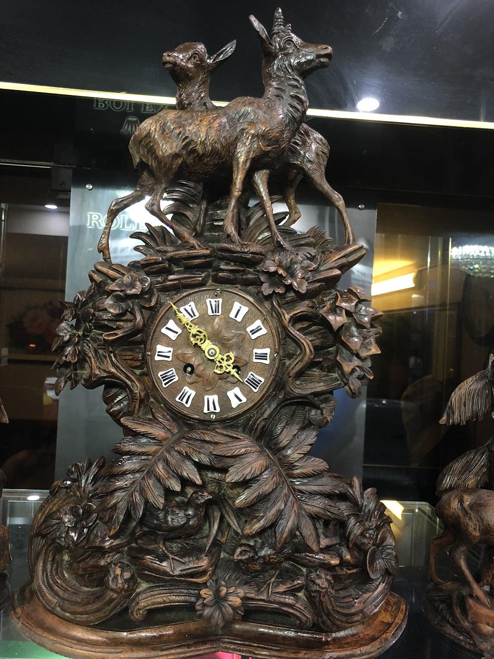 Đồng hồ cổ pháp hươu nai hơn 100 năm tuổi ngyên zin