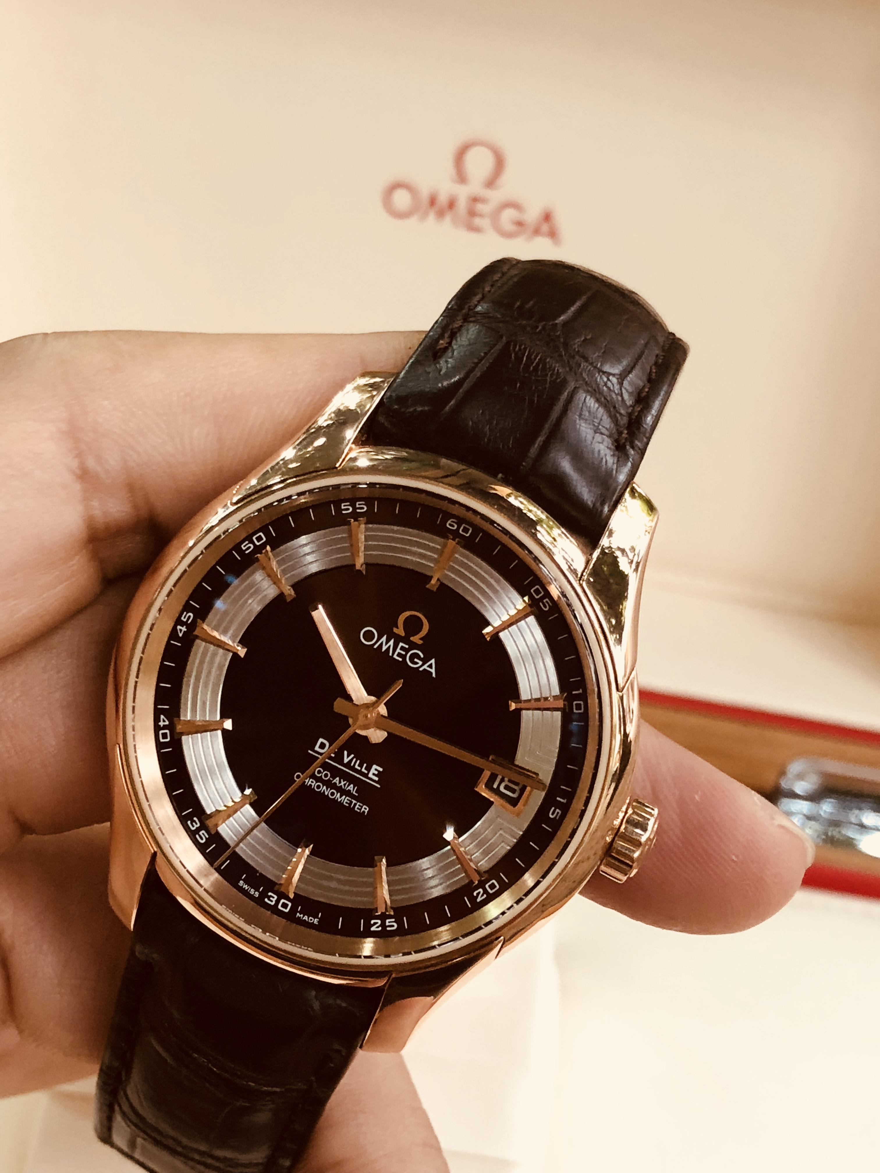 Omega De Ville Hour Vision 18K Rose Gold đời 2016/2017