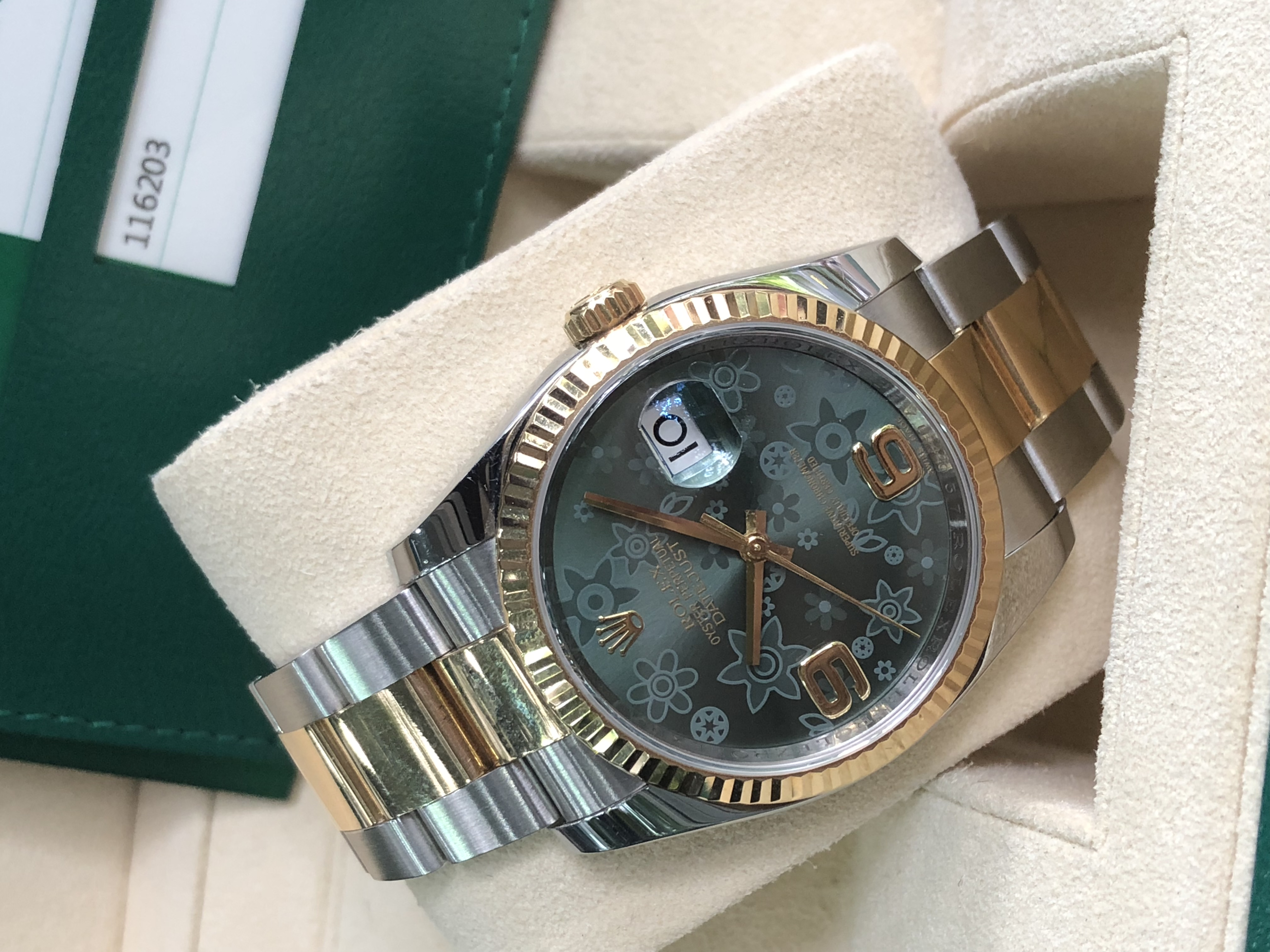 Rolex 116203 mặt đá xanh sản xuất năm 2016 fullbox