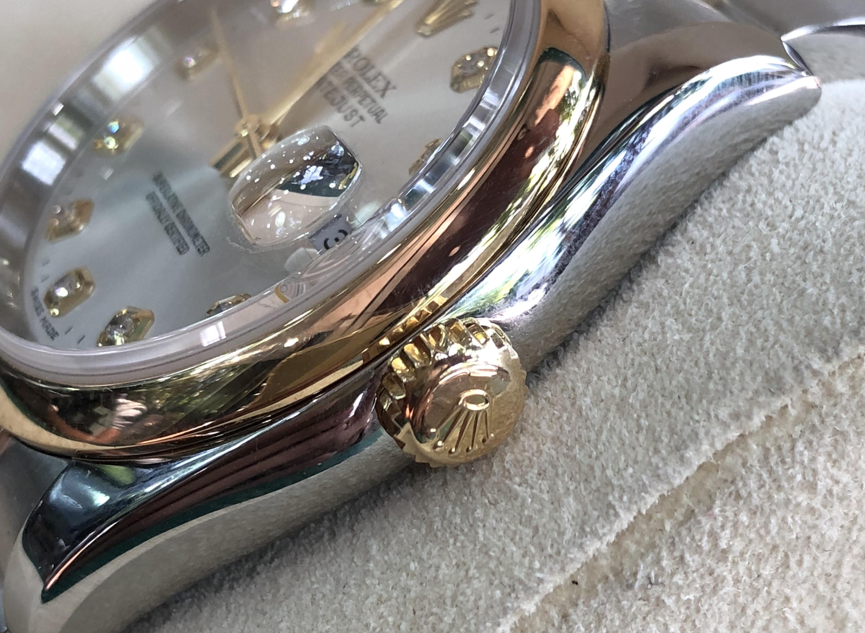 Rolex 116203 mặt tia demi vàng 18k sản xuất năm 2004