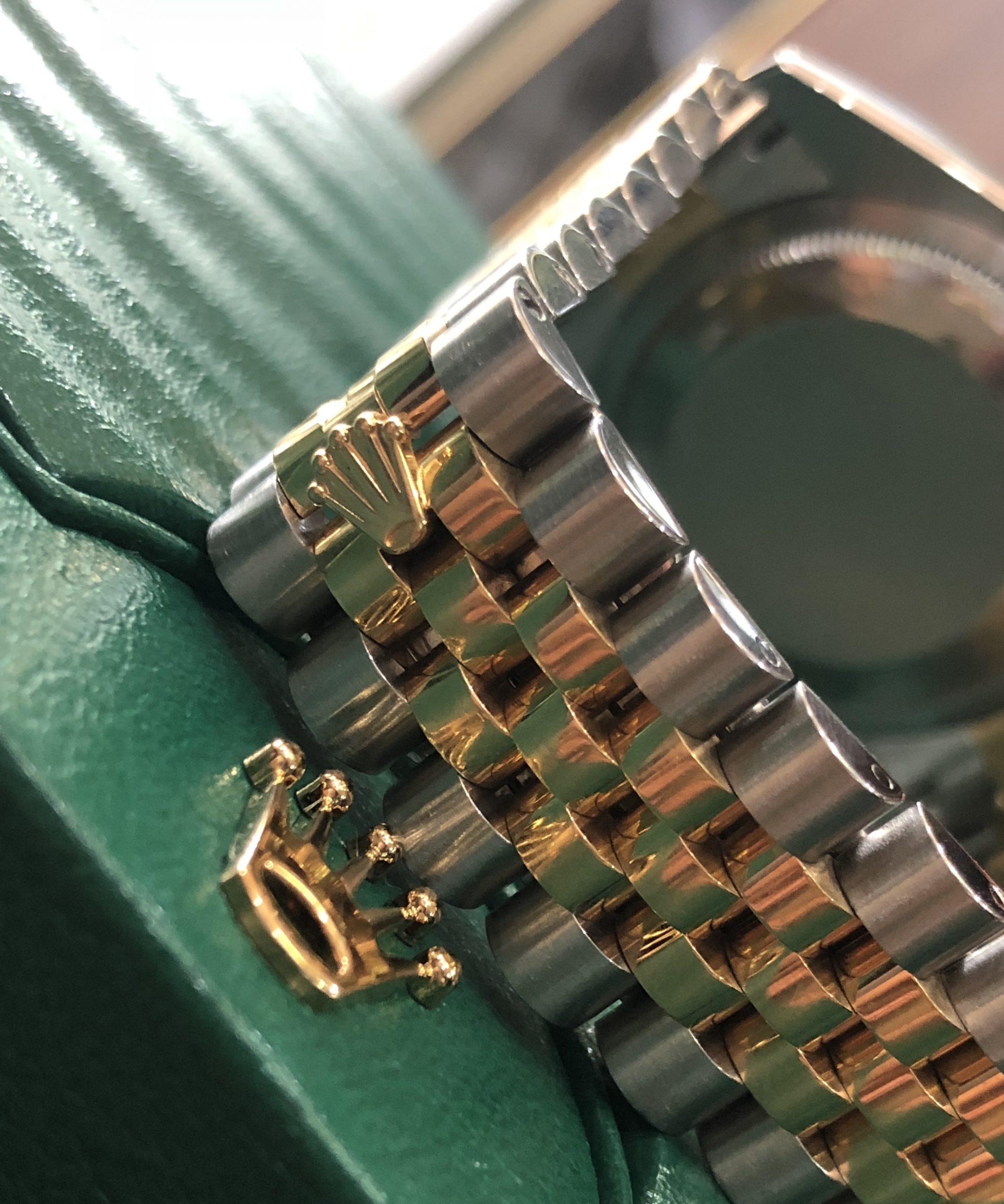 Rolex 116203 mặt trắng tia demi vàng 18k sản xuất năm 2016