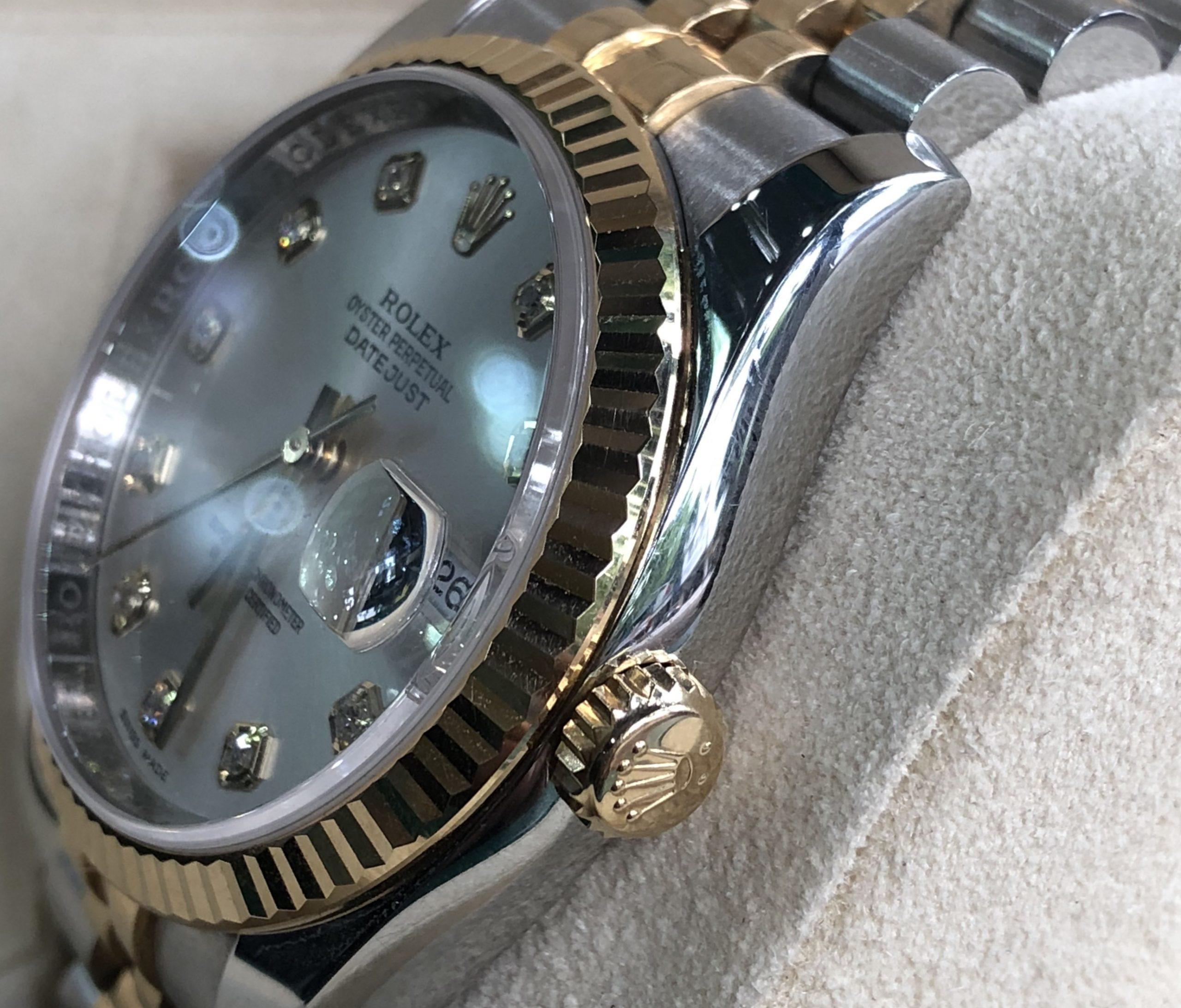 Rolex 116233 mặt trắng tia demi vàng đời 2012