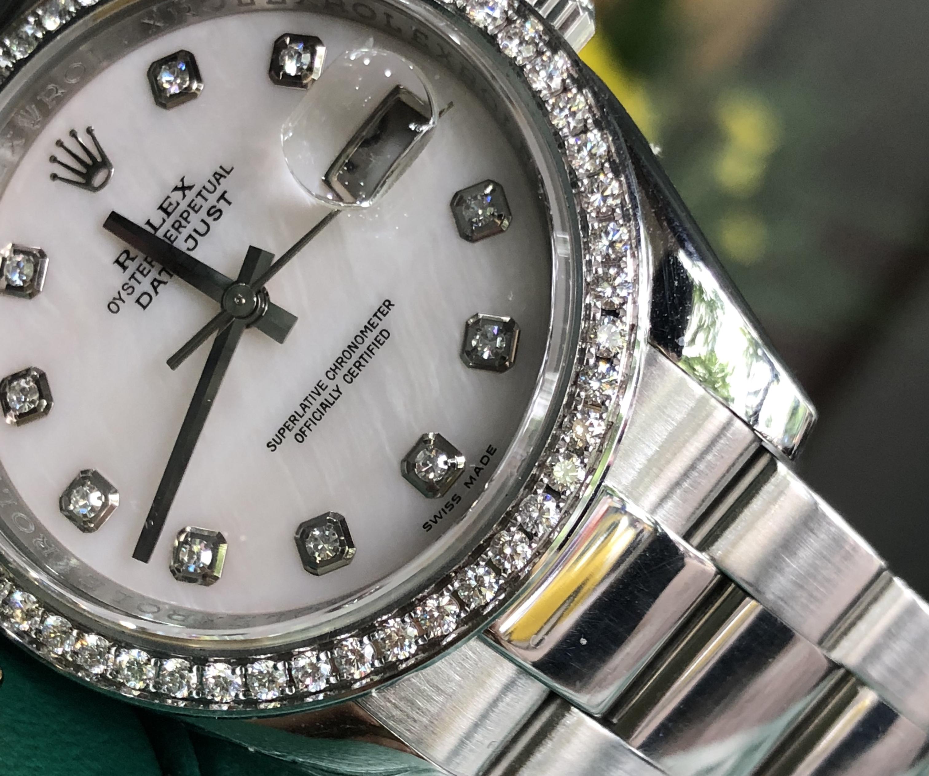 Rolex 116243 mặt đá sodalite trắng độ kim cương đời 2011