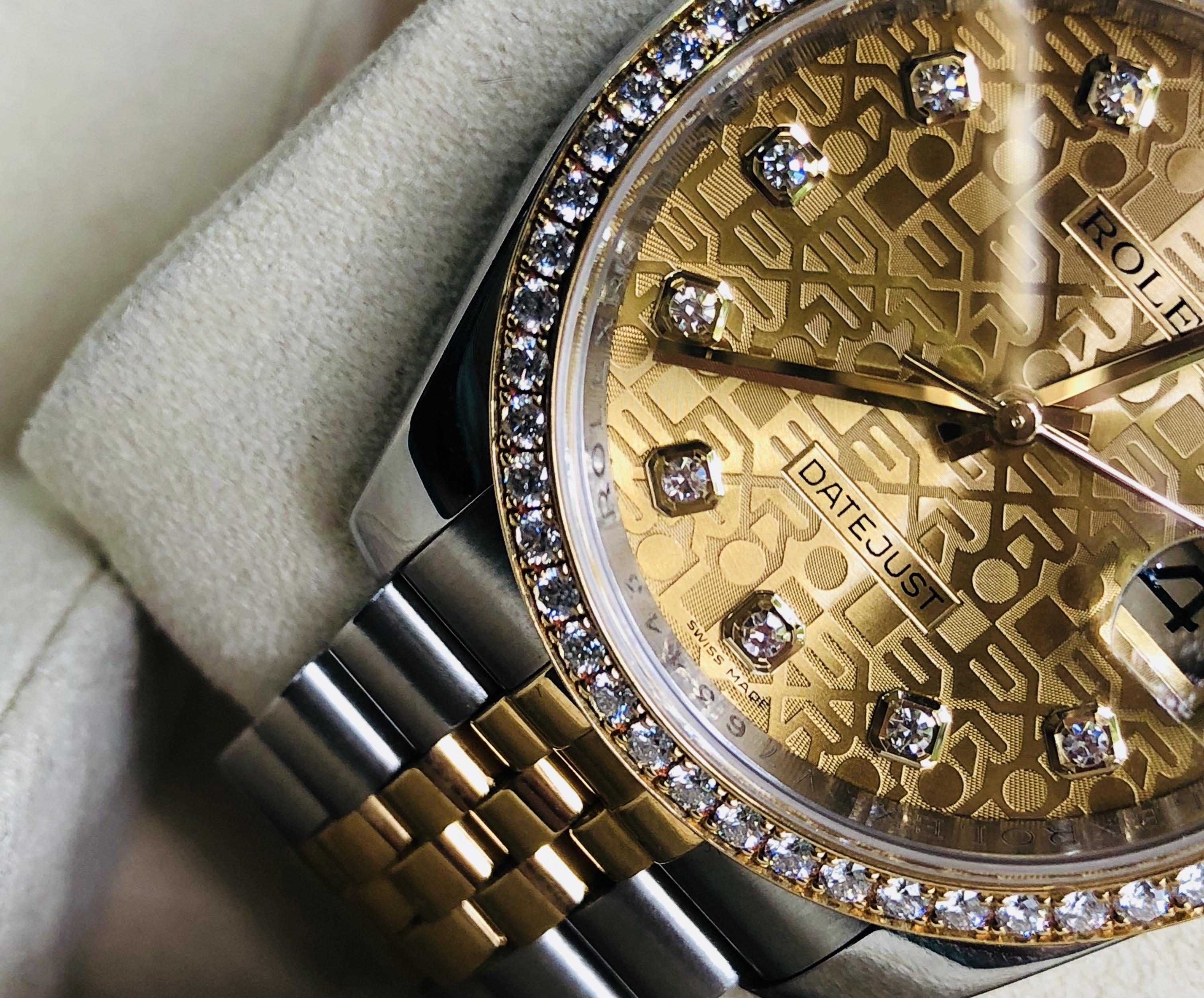 Rolex 116243 mặt vi tính niềng kim cương đời 2011