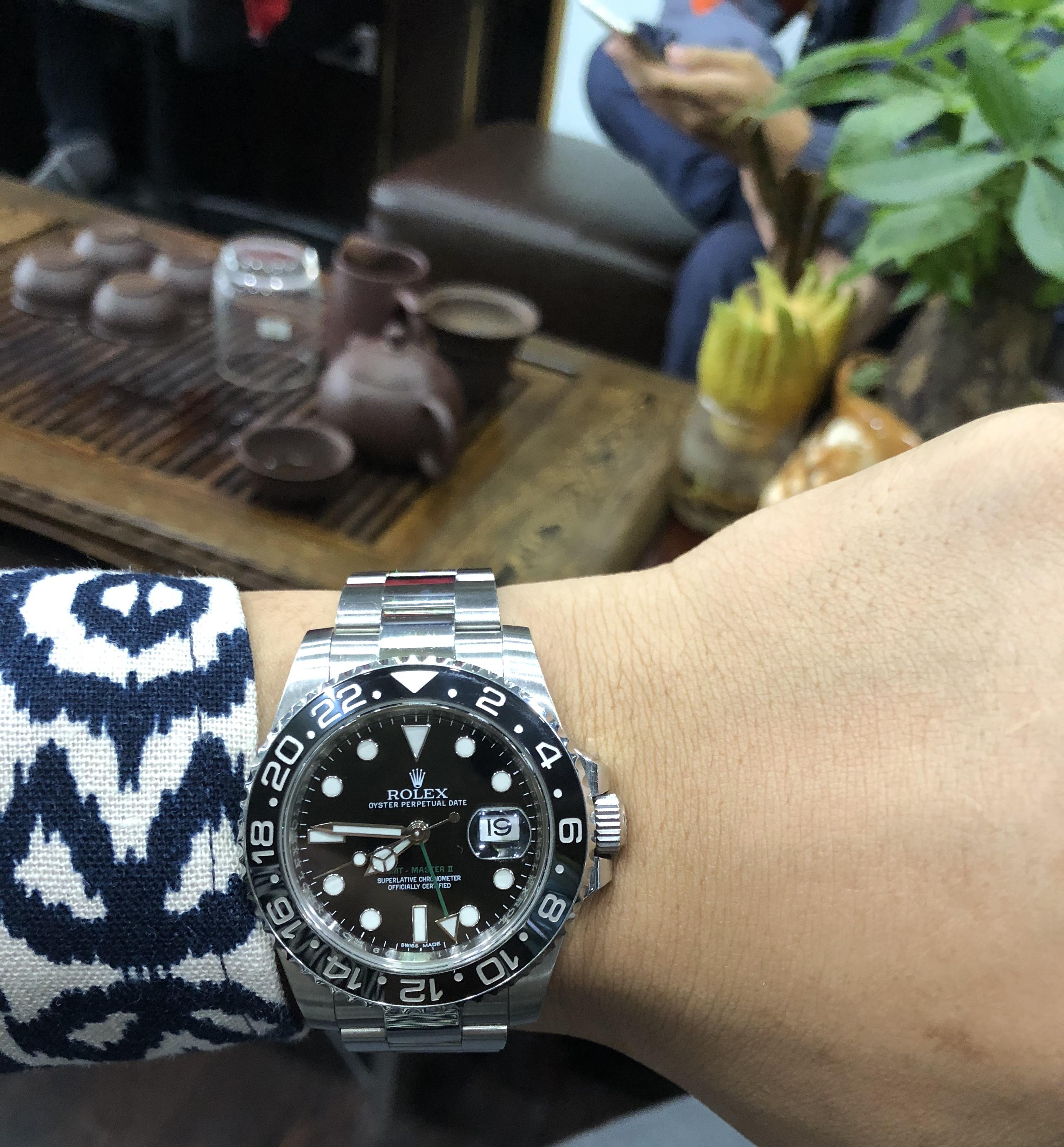 Rolex 116710 chức năng GMT mặt đen sản xuất năm 2016