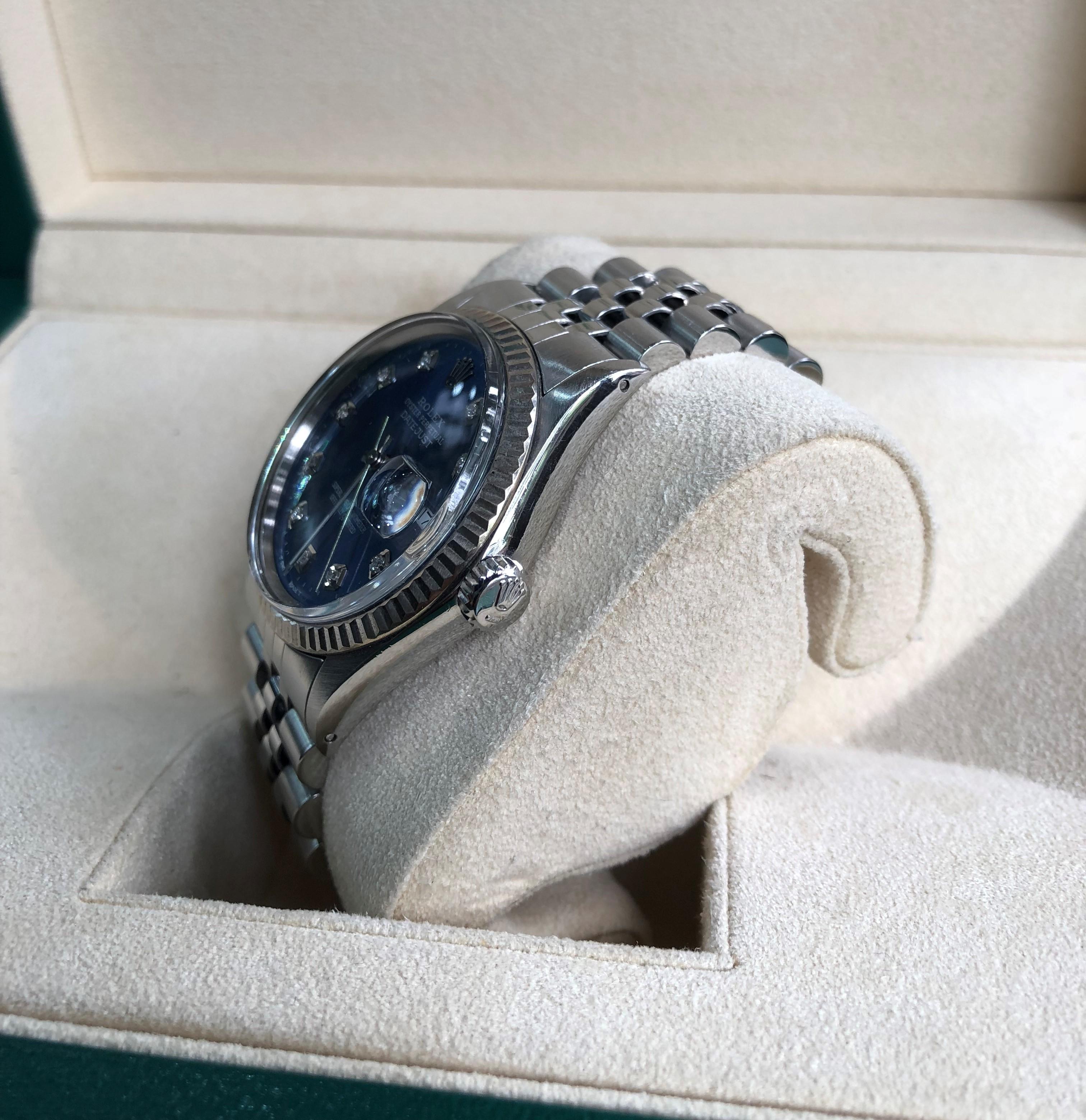 Rolex 16030 mặt xanh lam sản xuất năm 1988