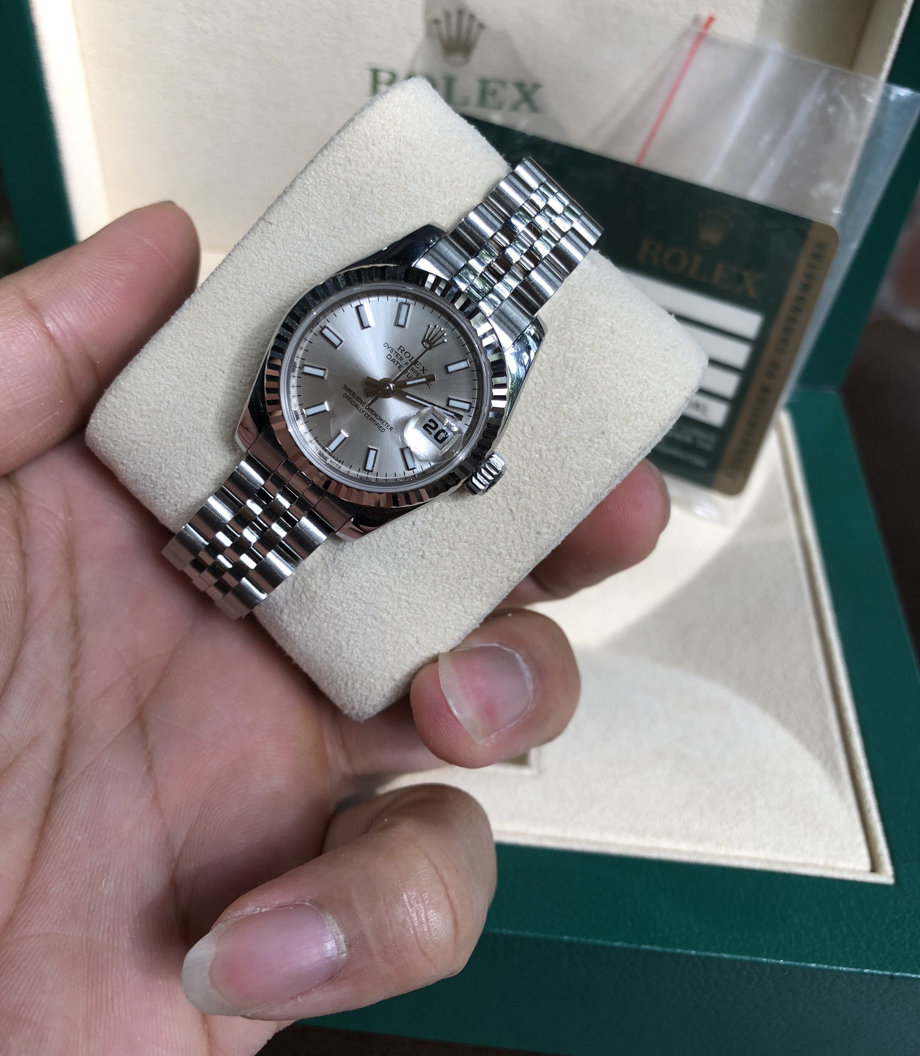 Rolex 179174 mặt trắng tia sản xuất năm 2011 fullbox