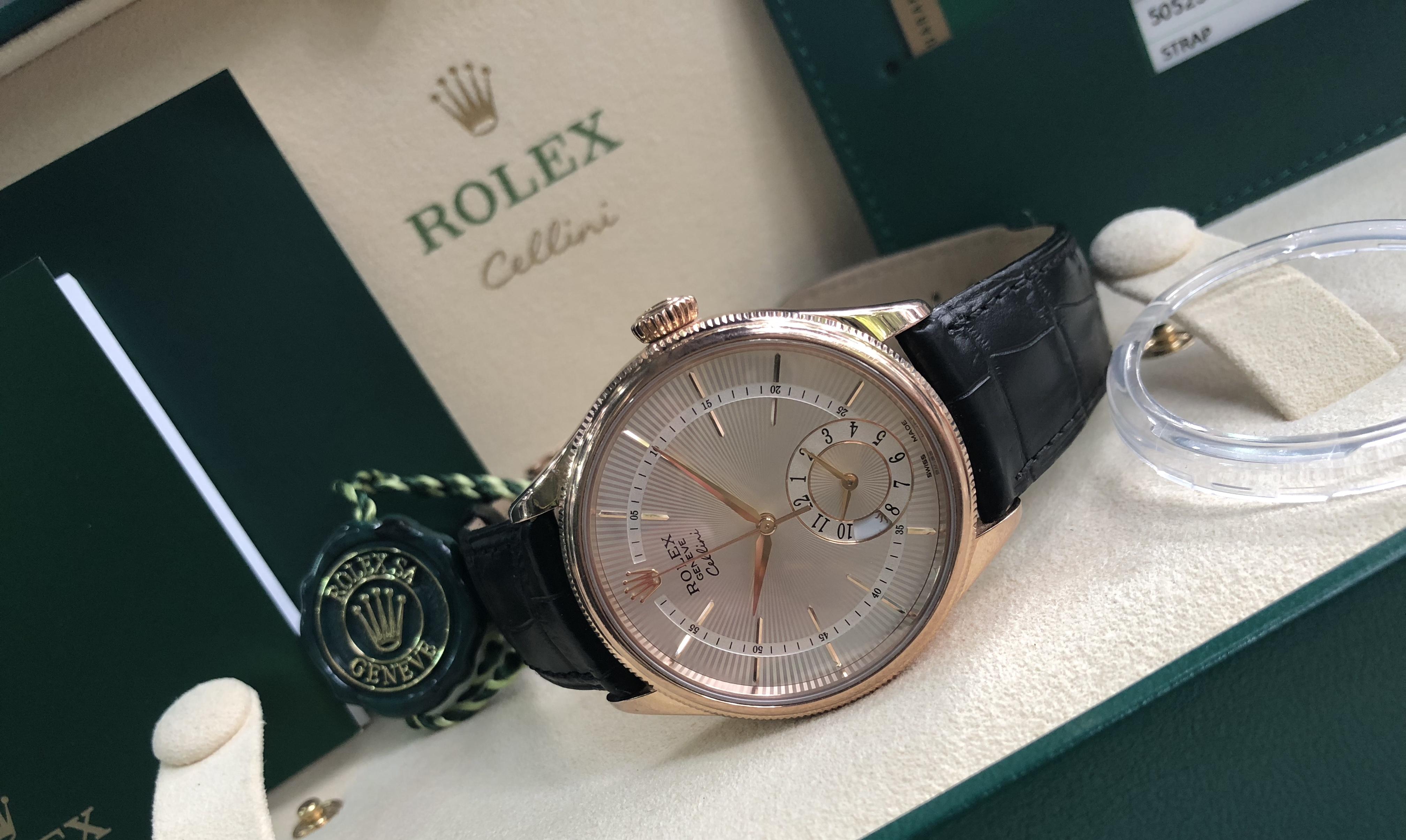 Rolex Cellini 50525 vàng hồng 18k sản xuất năm 2017 fullbox