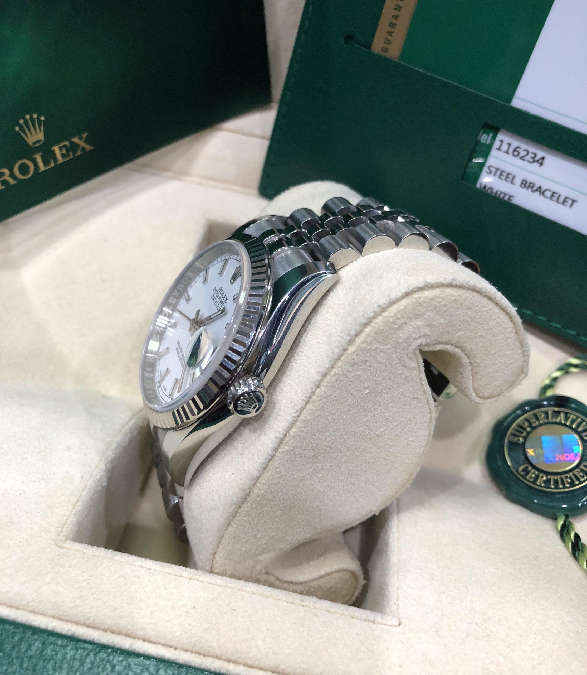 Rolex 116234 niềng vàng trắng đời 2018 Fullbox