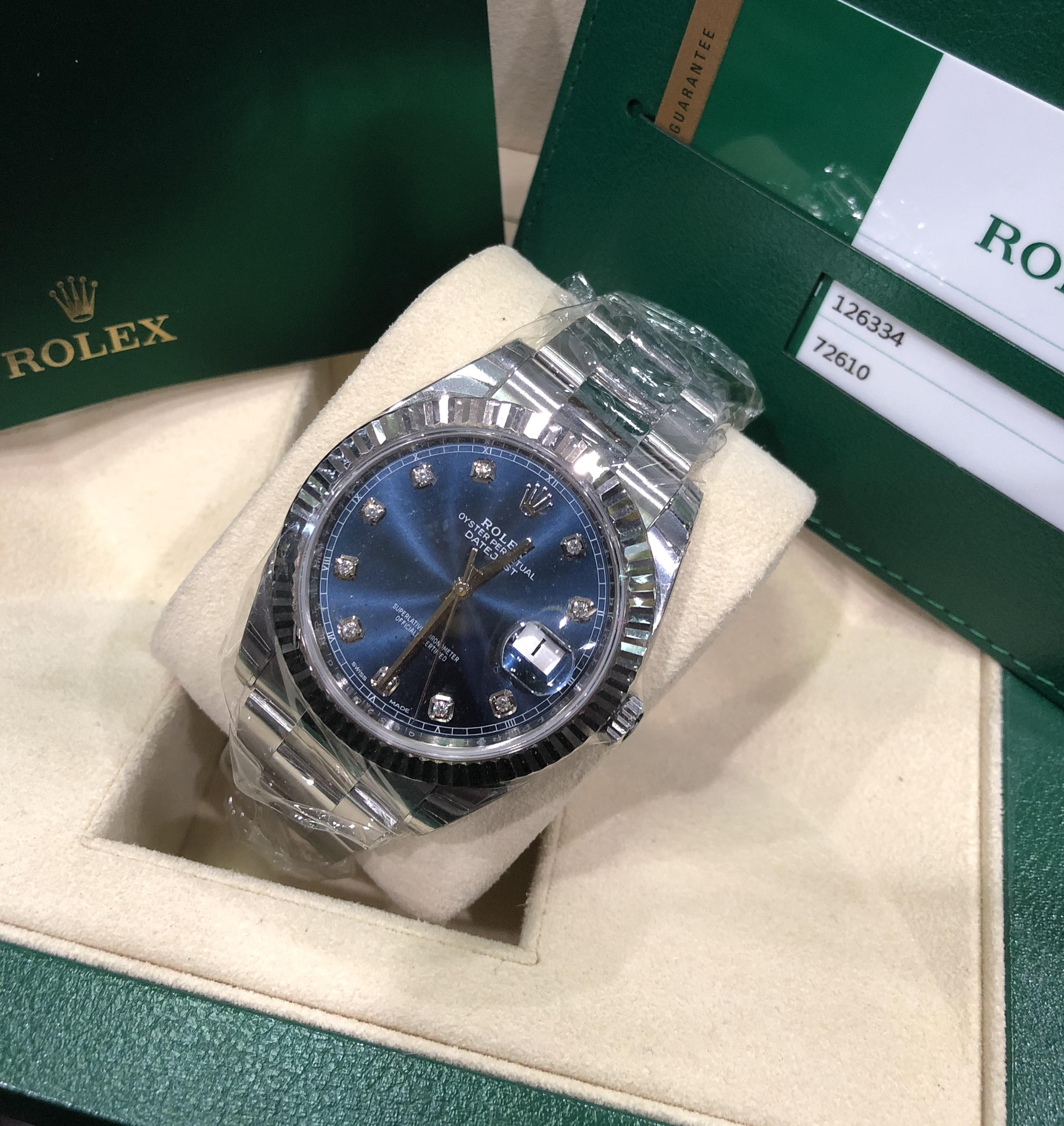 Rolex 126334 mặt xanh mới 2018 fullbox