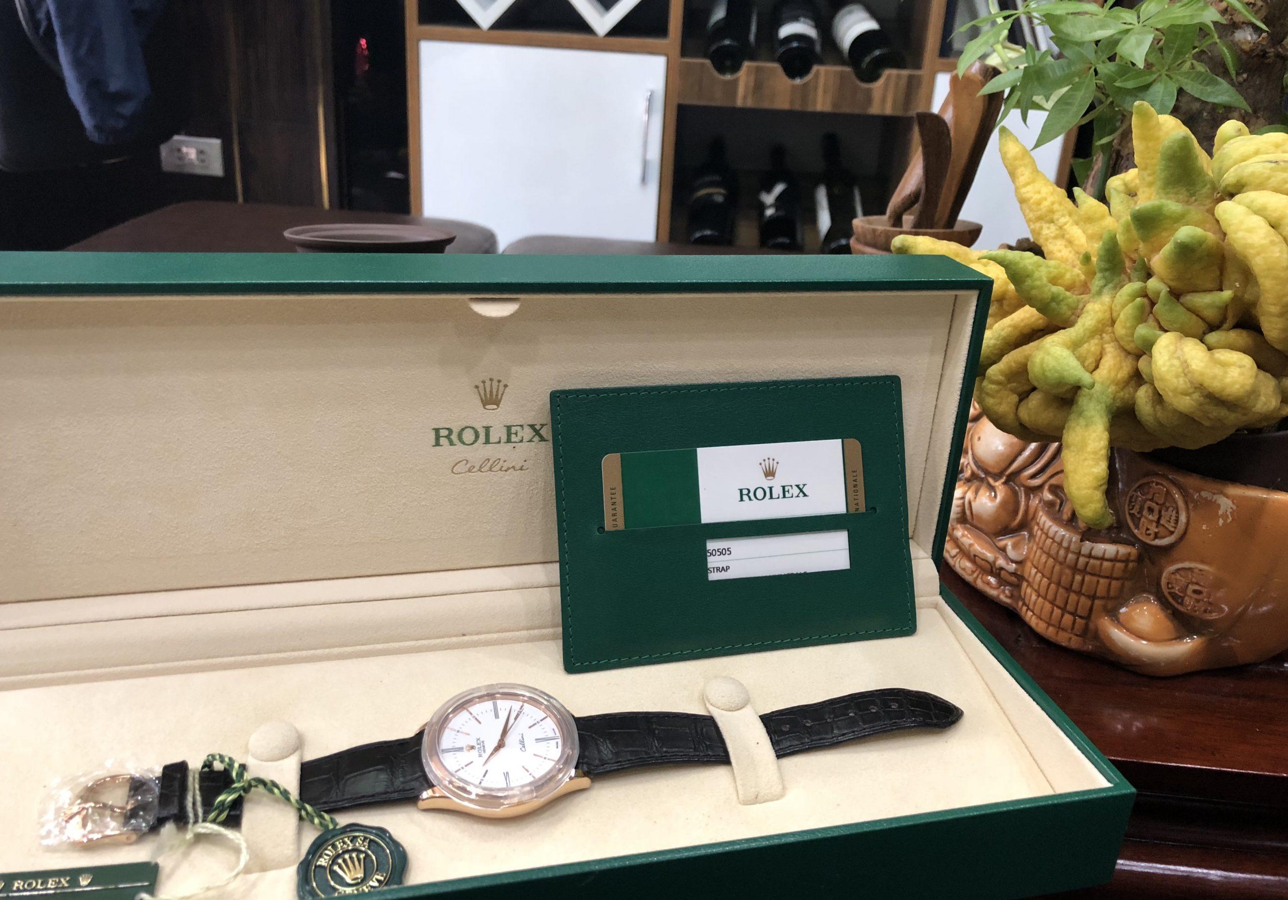 Rolex Cellini 50505 vàng hồng đời 2016 Fullbox