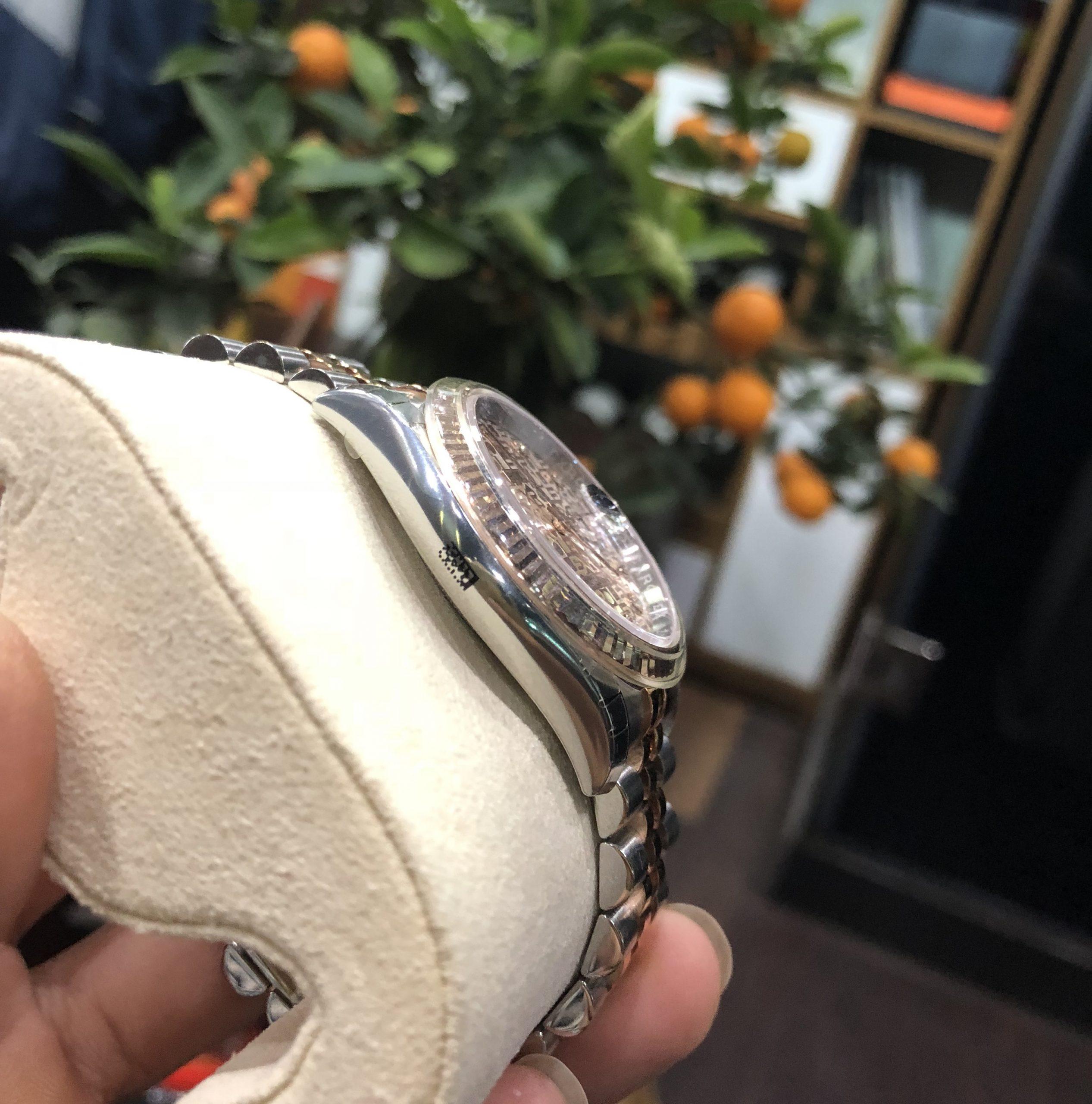 Rolex 116231 mặt vi tính phấn hồng Fullbox mới tinh