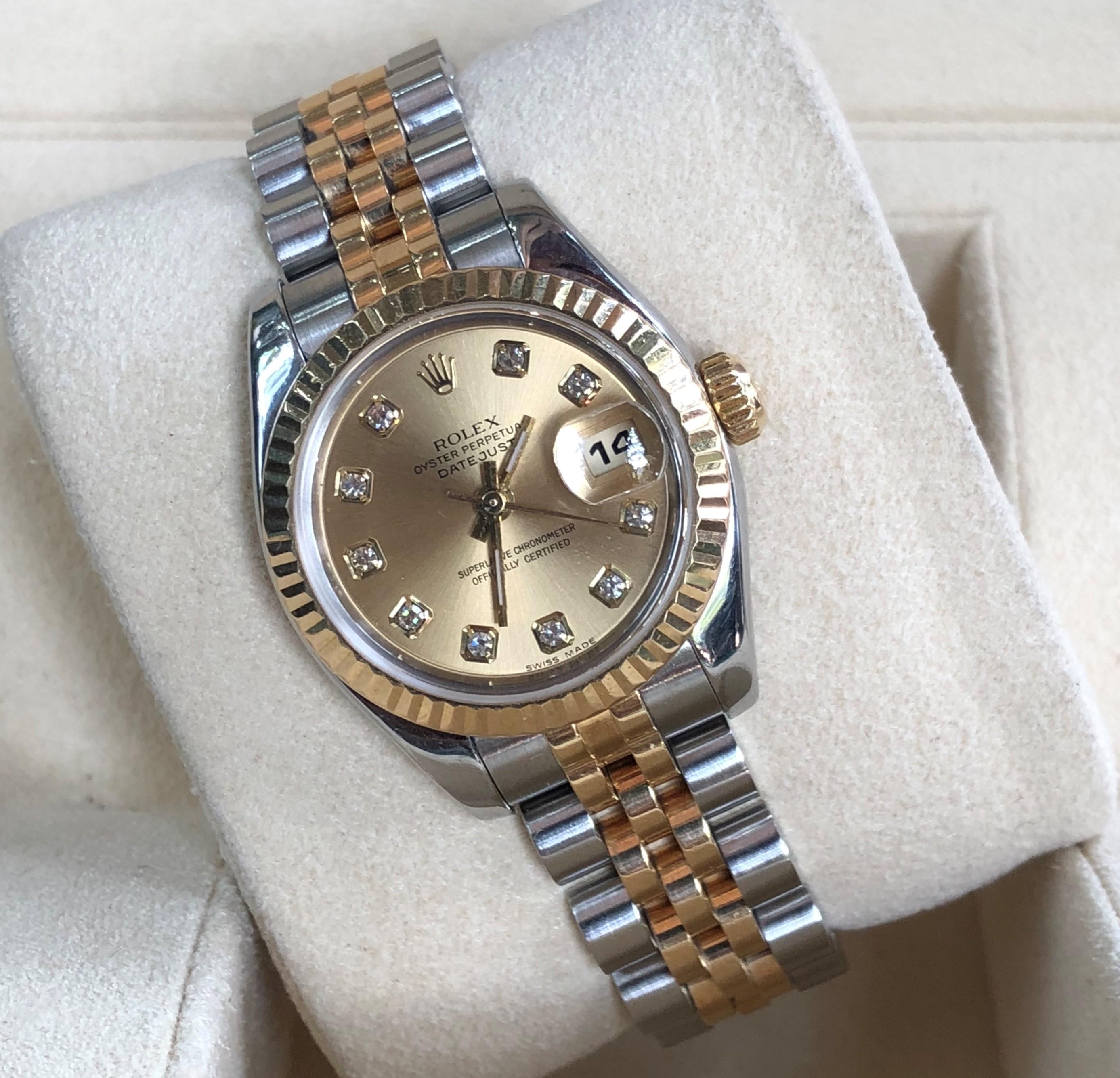Rolex nữ 179173 demi vàng 18k kích thước 26mm đời 2003/2004