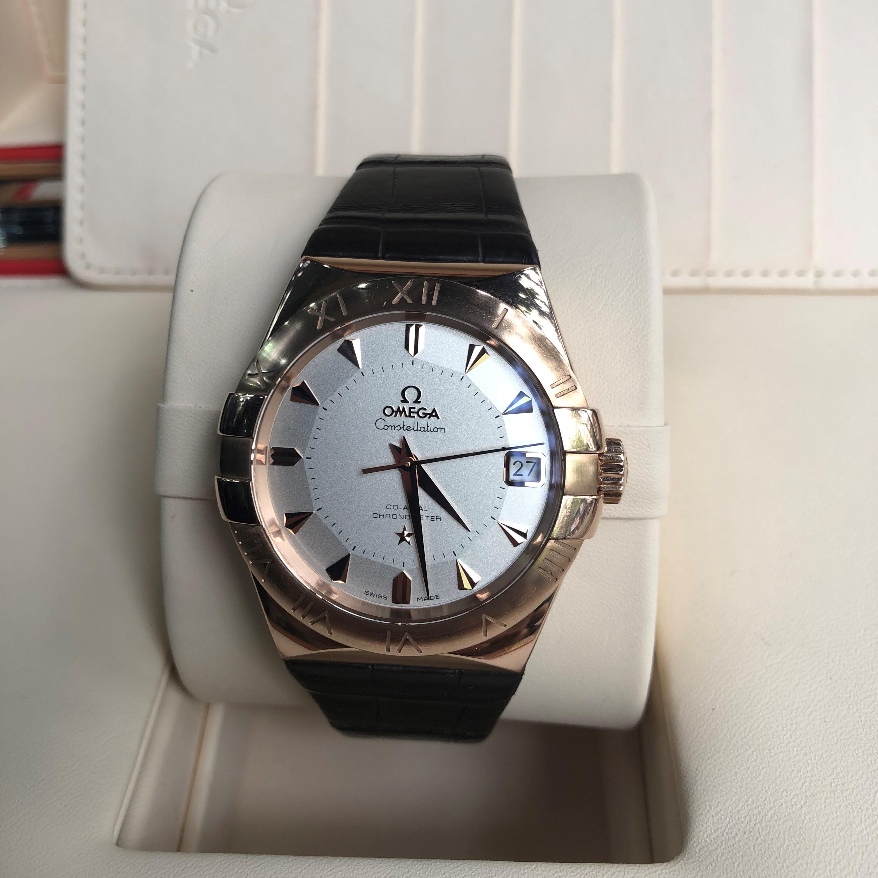 omega constellation limited 1952 vàng hồng 18k size 38mm