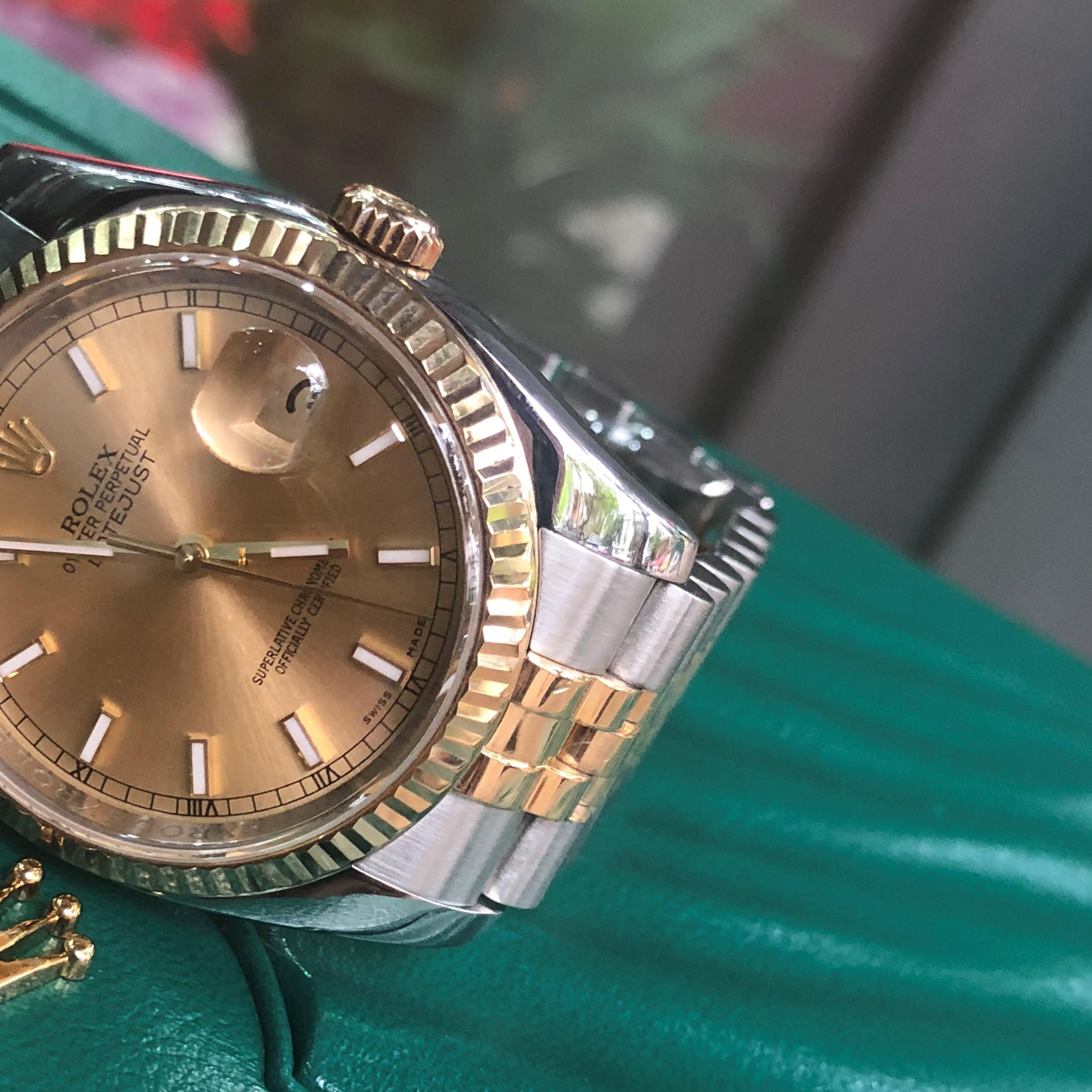 Rolex 116233 mặt vàng tia demi vàng 18k Fullbox 2010